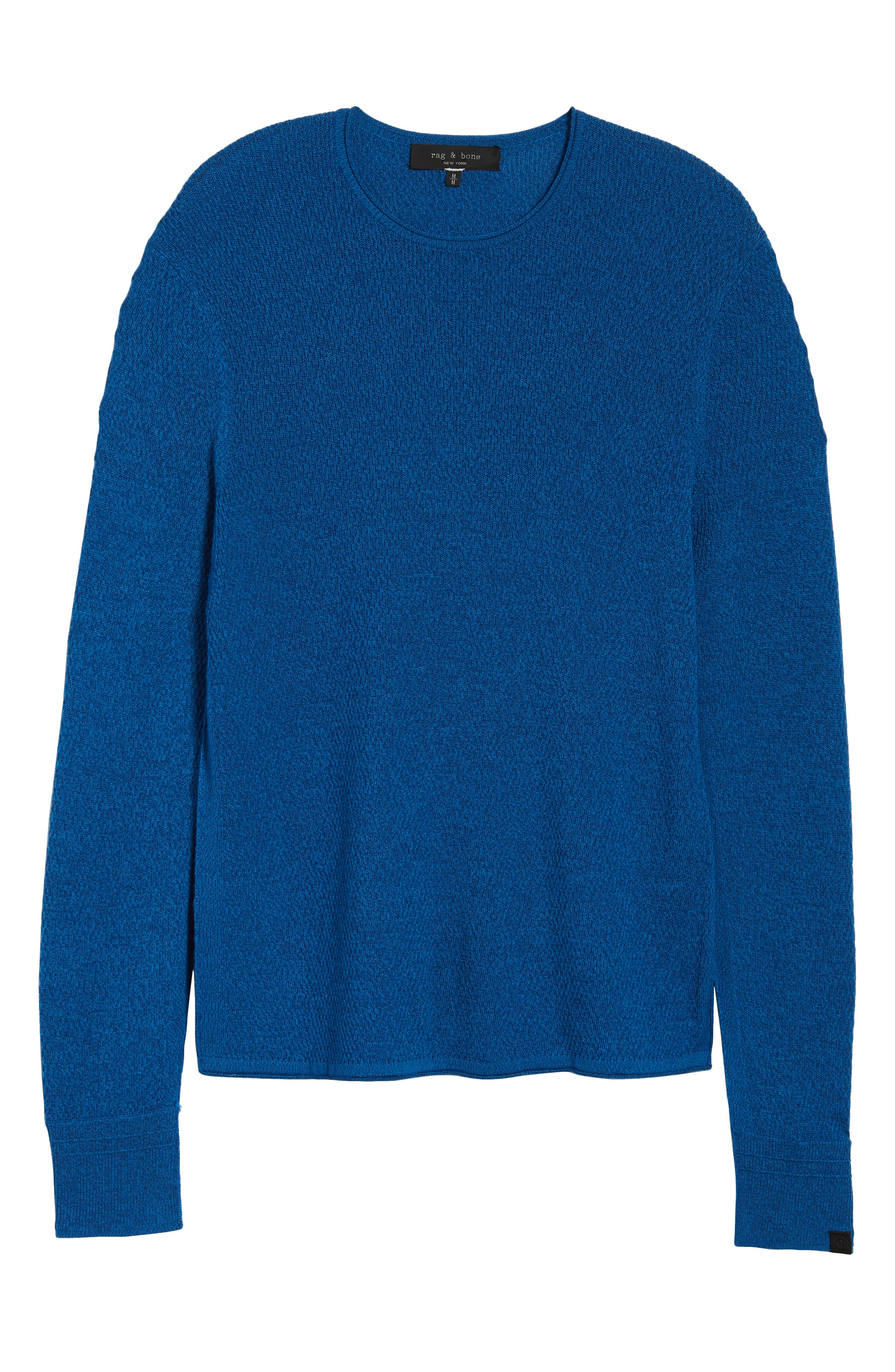 Gregory Wool Blend Crewneck Sweater,                             Alternate thumbnail 6, color,                             Bright Blue