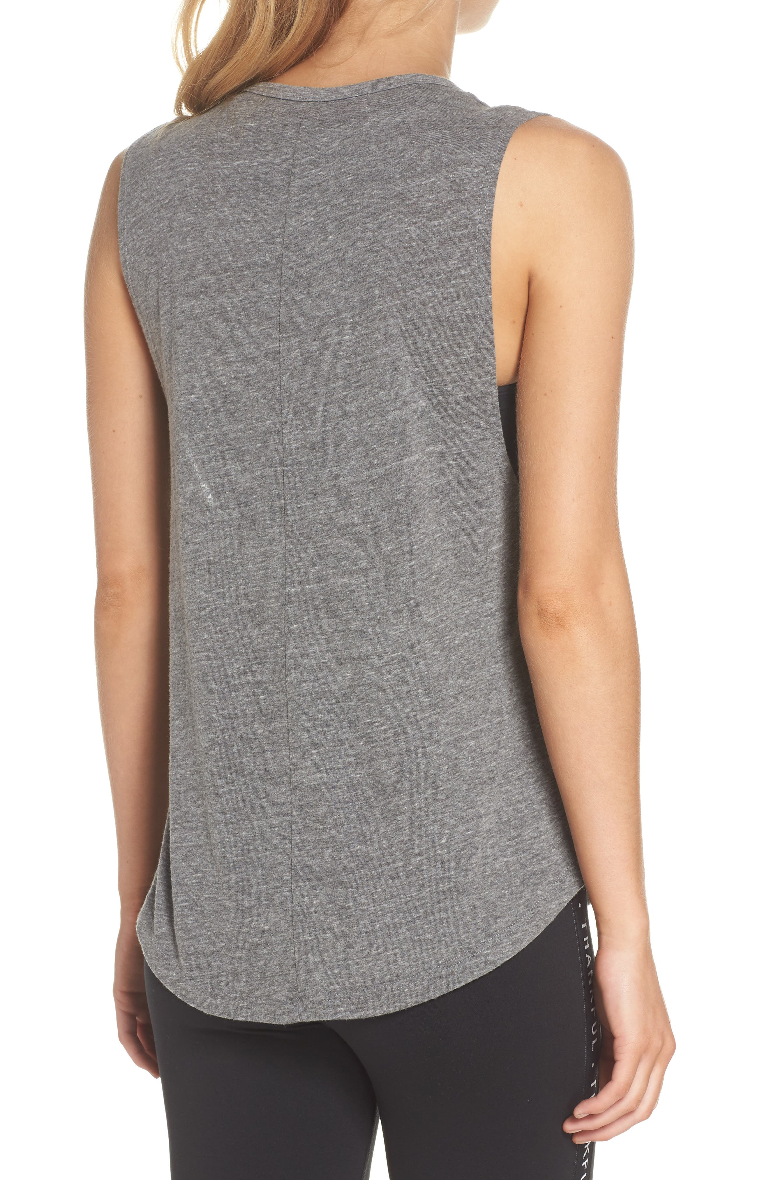 Riley Gym Tee Tank,                             Alternate thumbnail 2, color,                             Heather