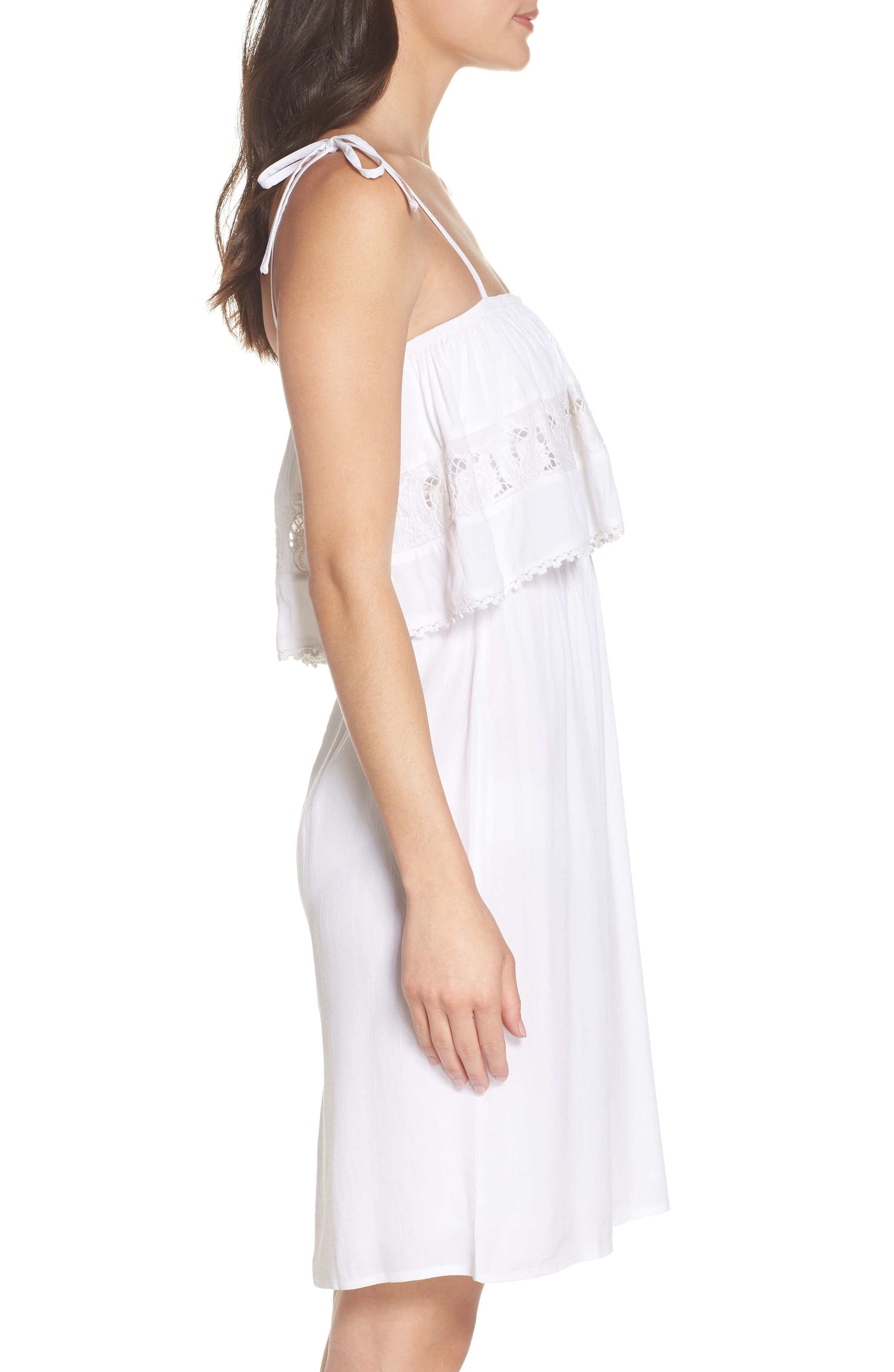 Jaclyn Cover-Up Dress,                             Alternate thumbnail 5, color,                             White