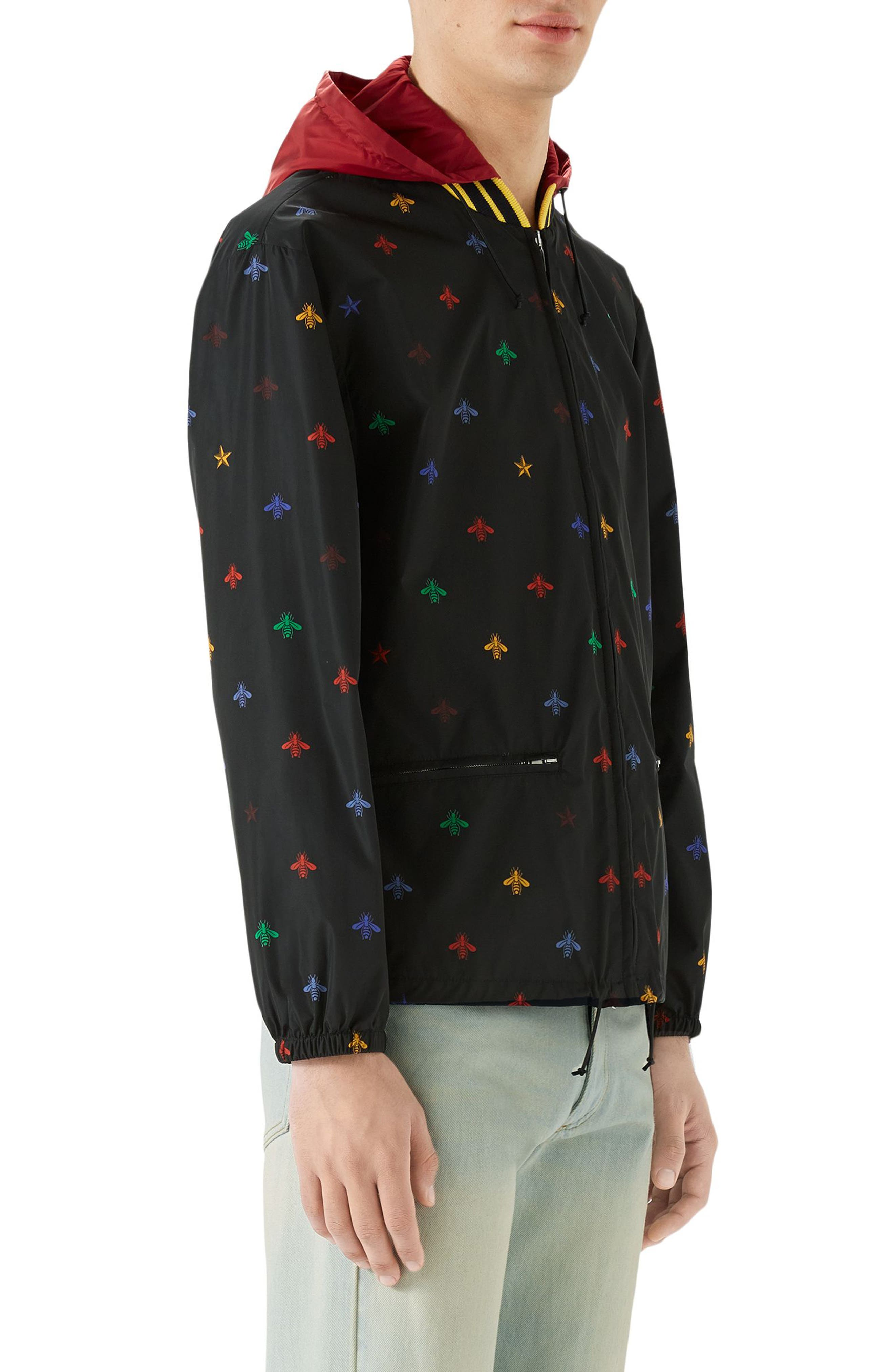 Alternate Image 3  - Gucci Bee Print Lightweight Jacket