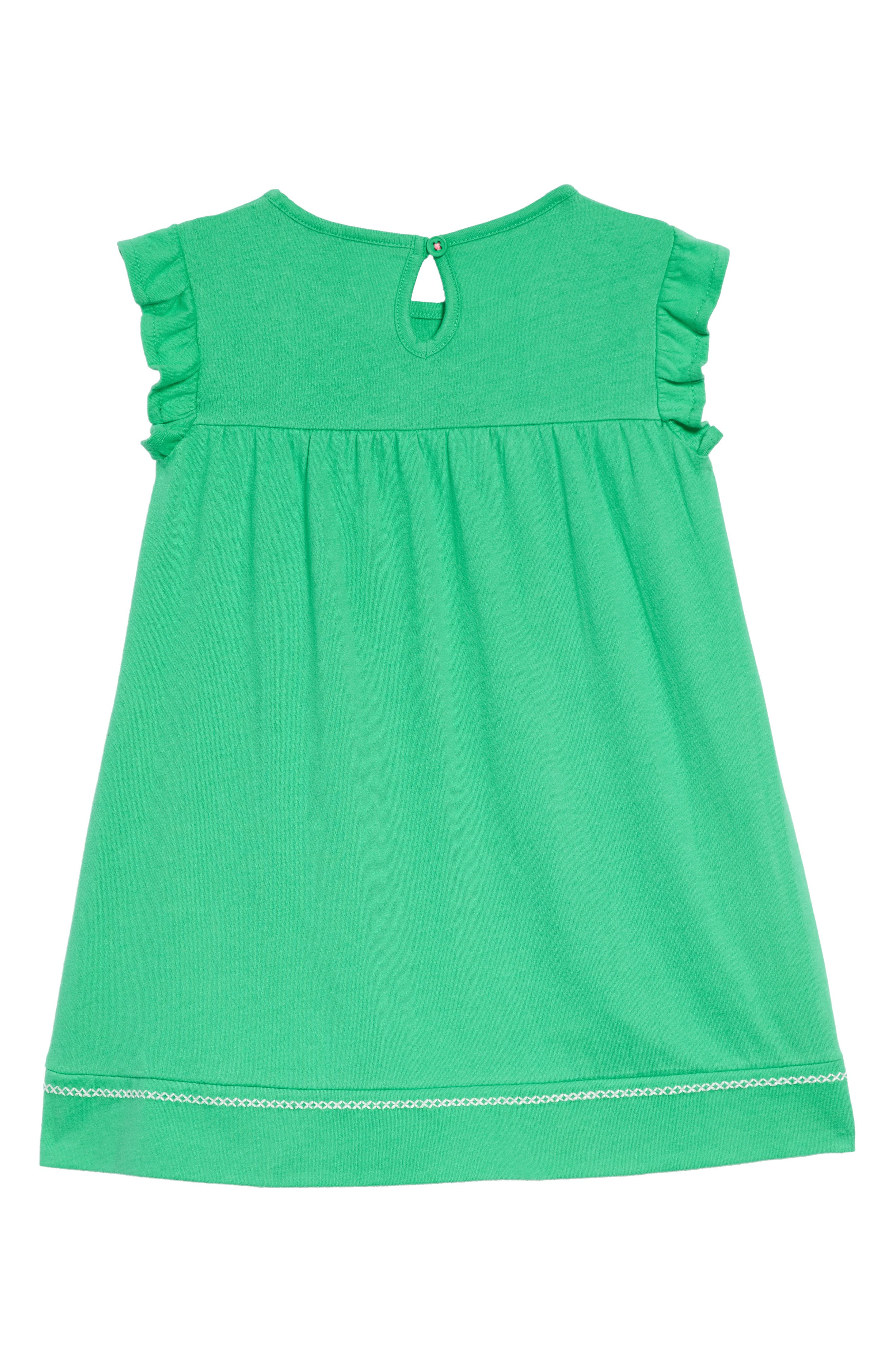 Embroidered Jersey Dress,                             Alternate thumbnail 3, color,                             Peppermint Green