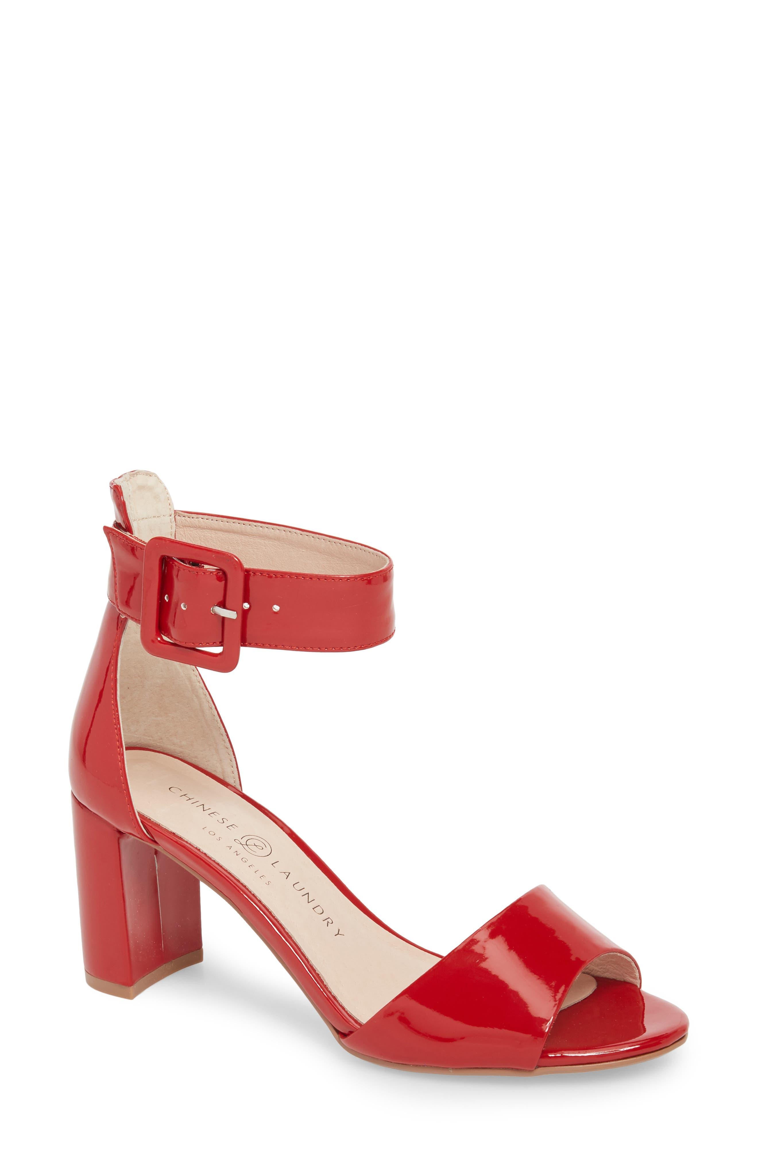 Rumor Sandal,                         Main,                         color, Red