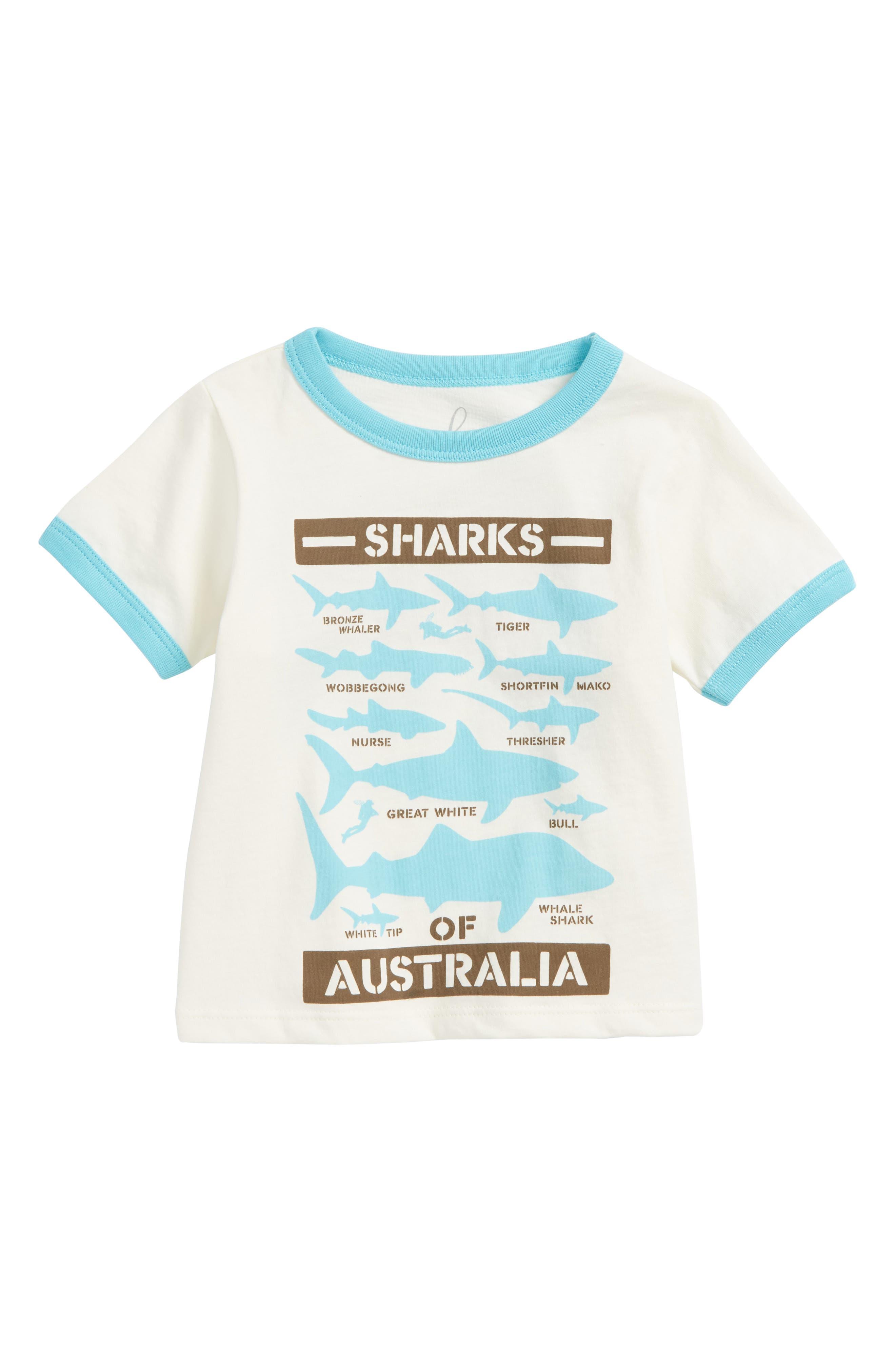 Peek Shark Graphic T-Shirt (Baby Boys)