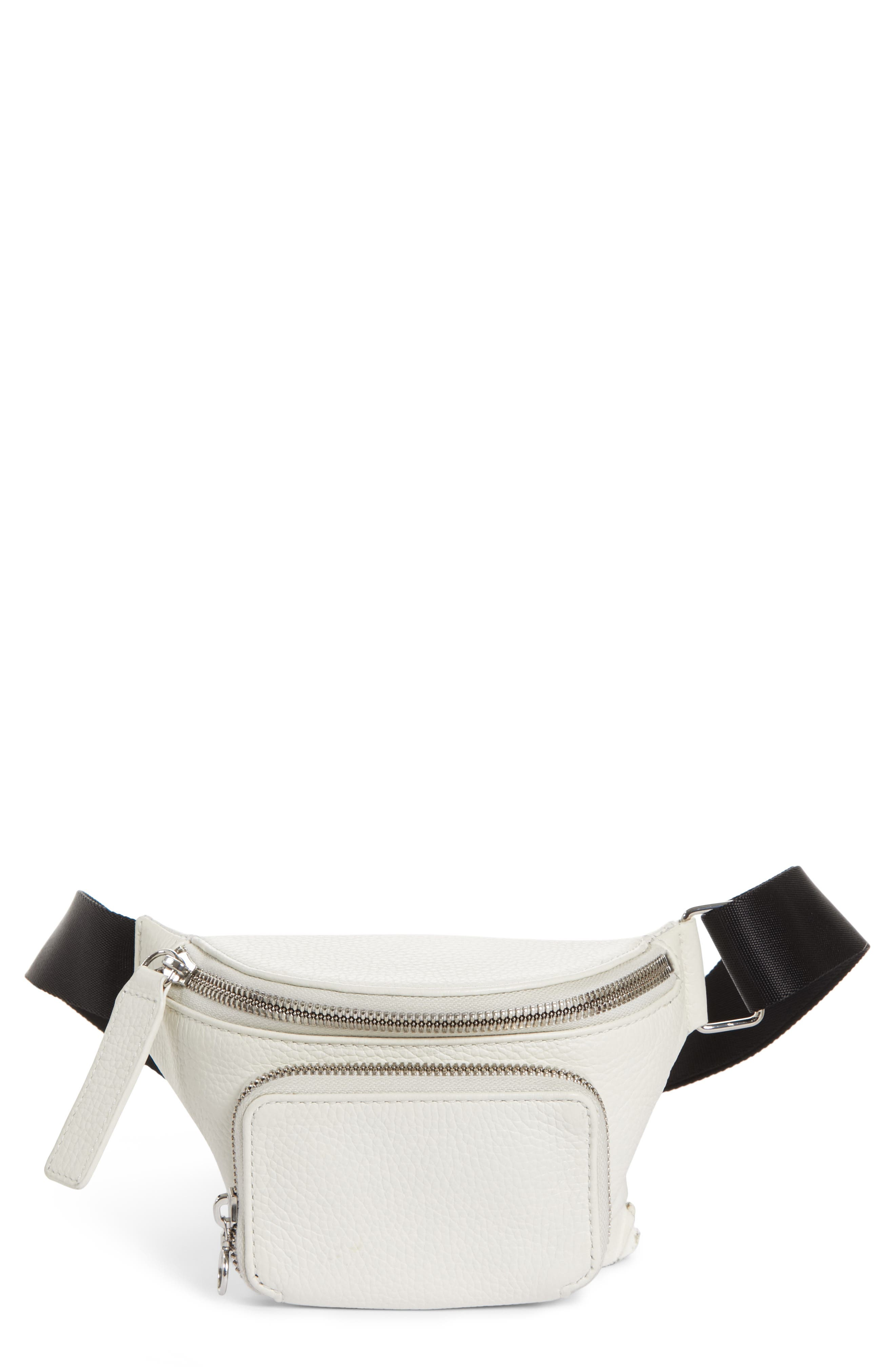 LEATHER BUM BAG - WHITE