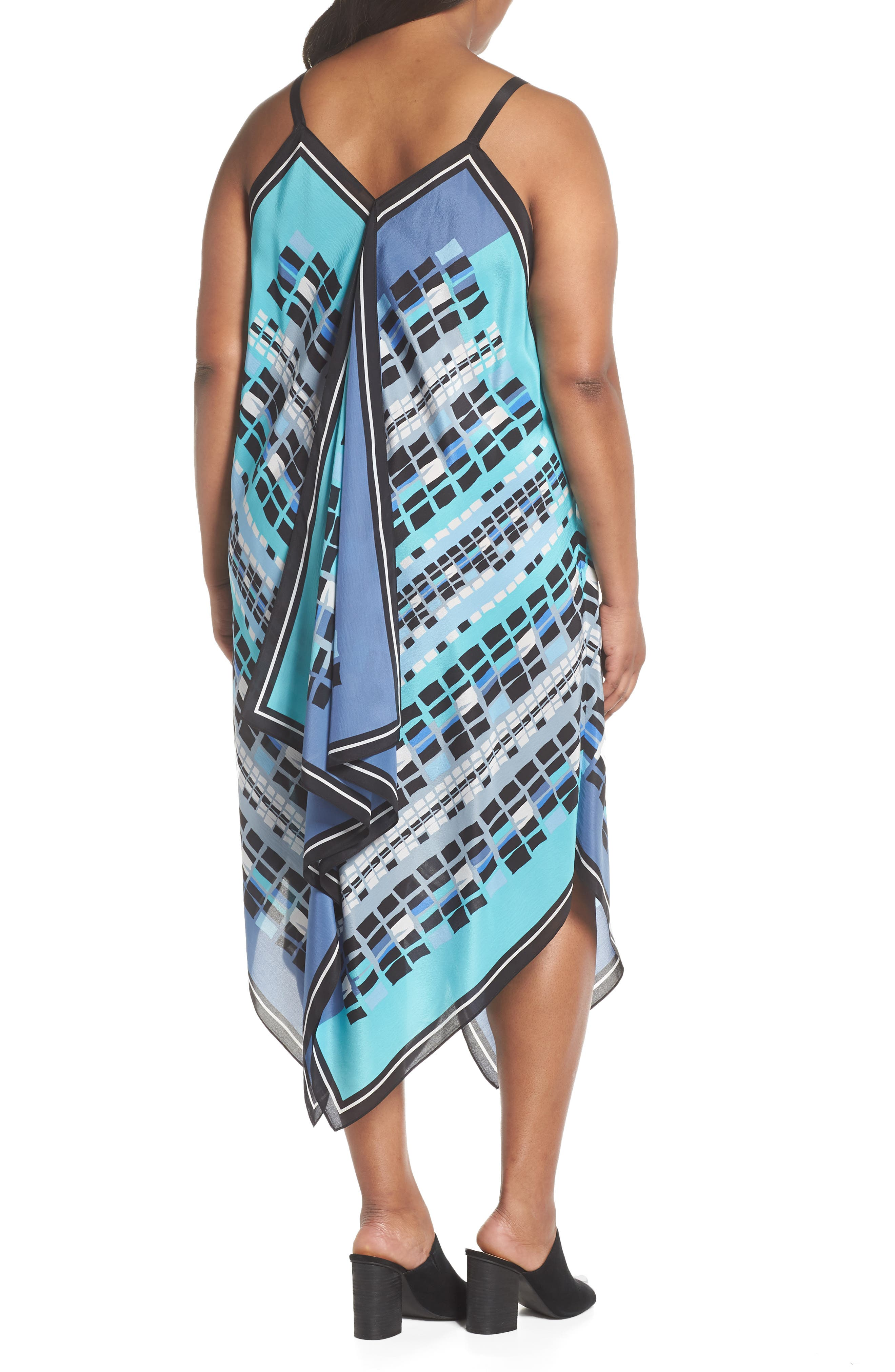 From Above Print Silk Blend Dress,                             Alternate thumbnail 3, color,                             Multi