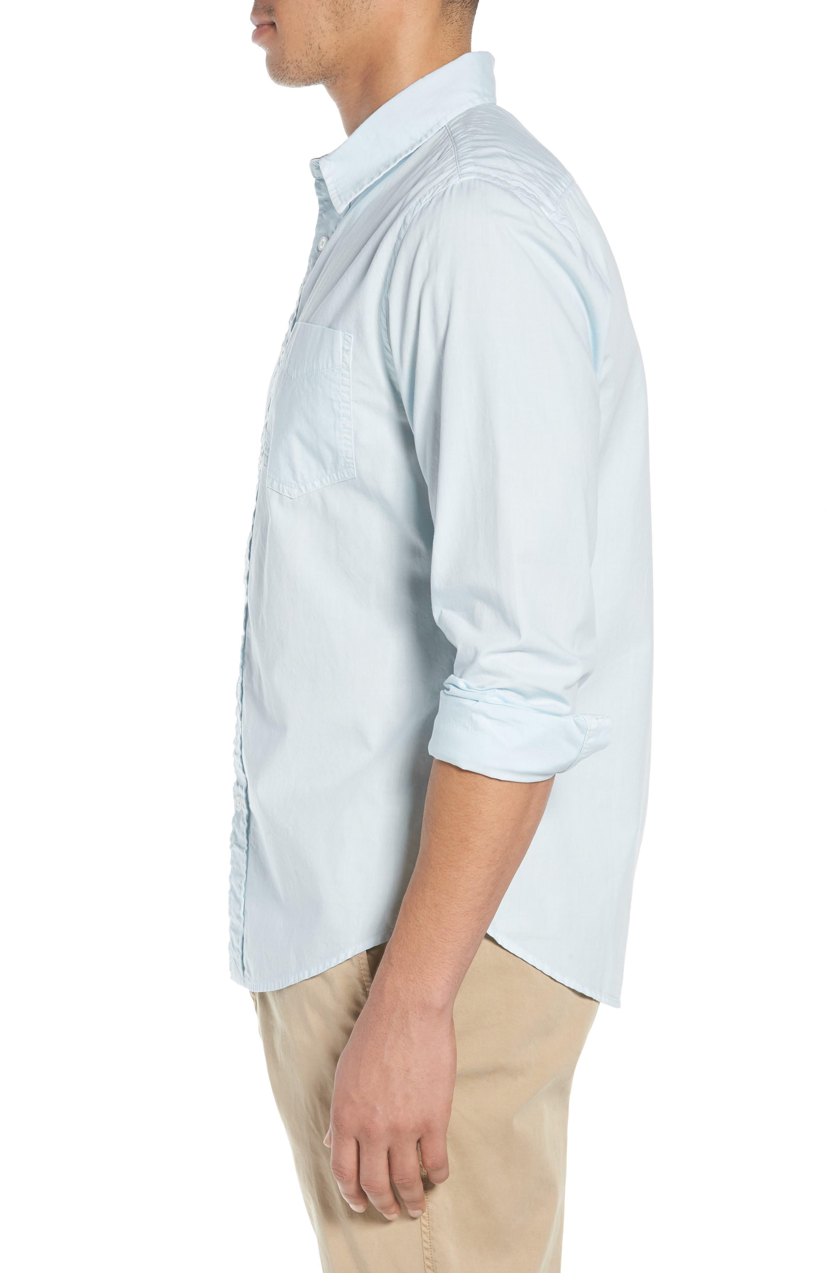 'Naples' Woven Shirt,                             Alternate thumbnail 4, color,                             Waterfall