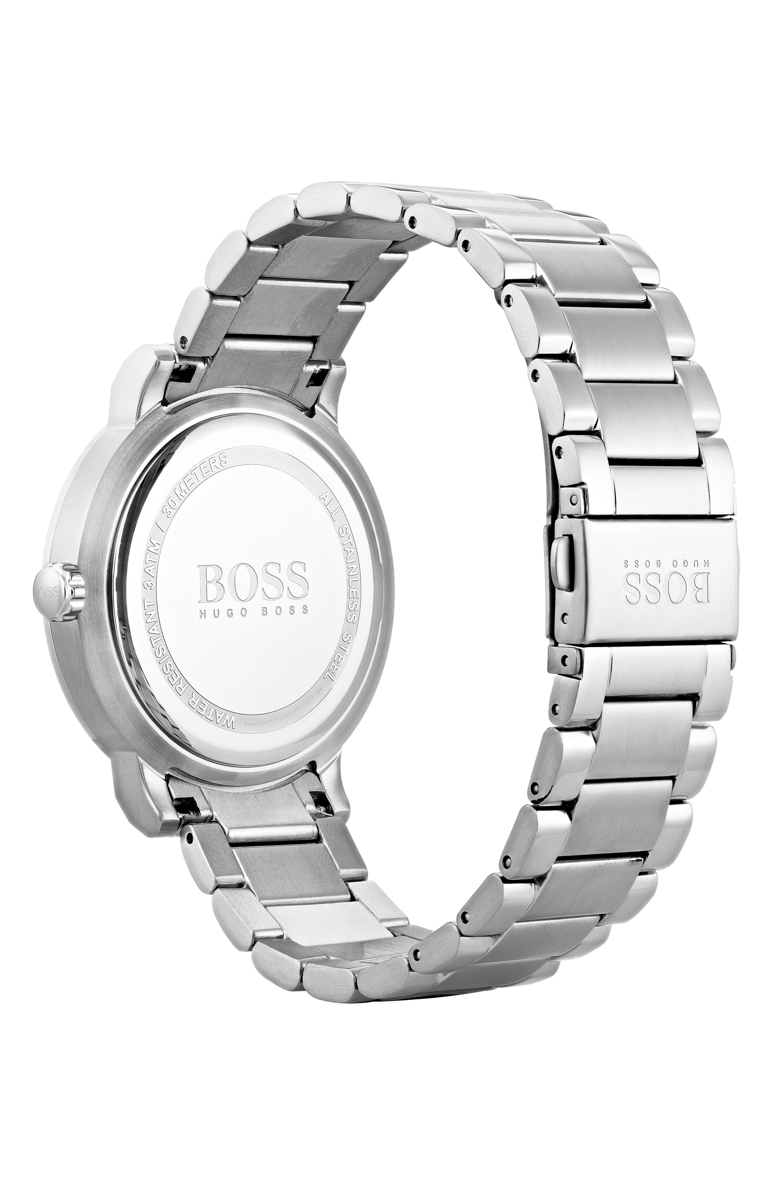 Oxygen Chronograph Bracelet Watch, 42mm,                             Alternate thumbnail 2, color,                             Grey/ Stainless