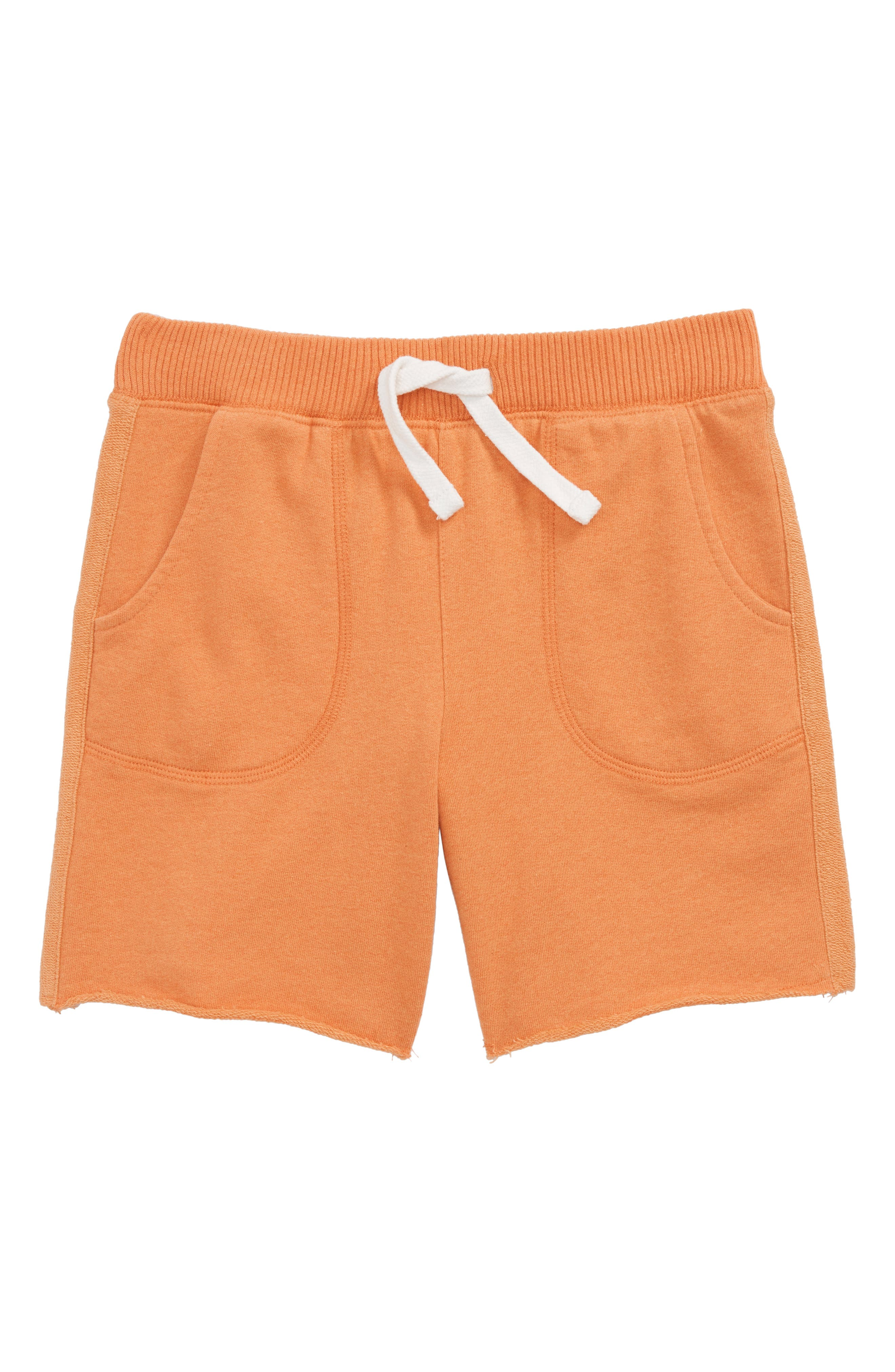 Fleece Shorts,                             Main thumbnail 1, color,                             Orange Glaze