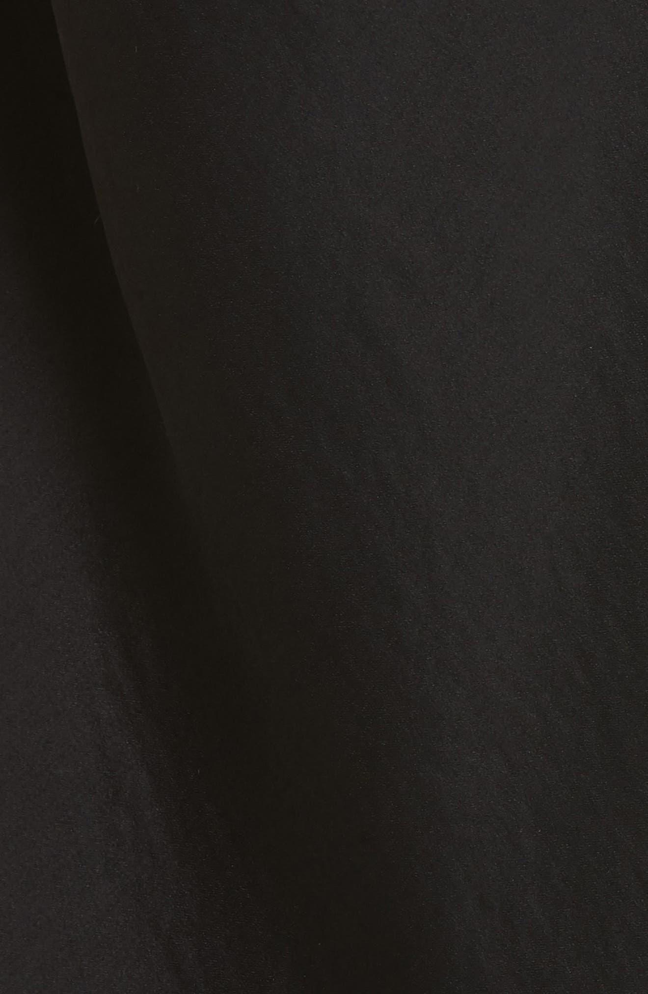 Wrap Hammered Satin Tank,                             Alternate thumbnail 5, color,                             Black
