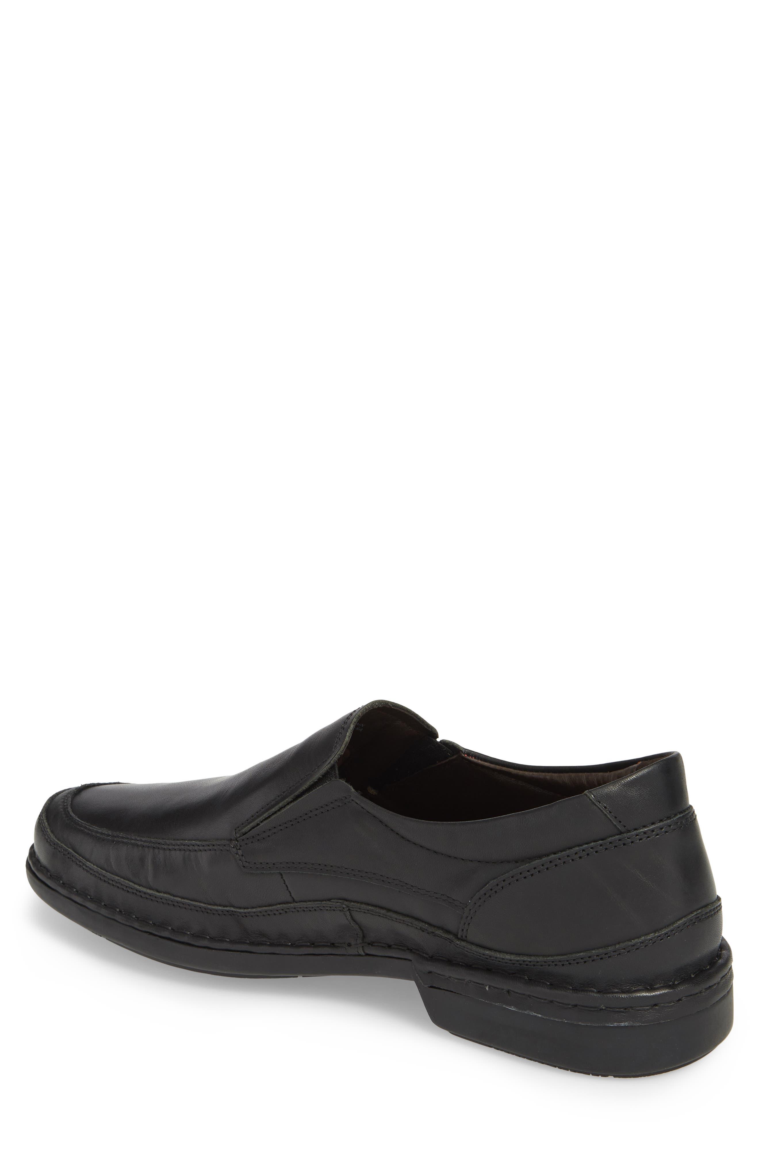 'Oviedo' Slip-On,                             Alternate thumbnail 2, color,                             Black Leather
