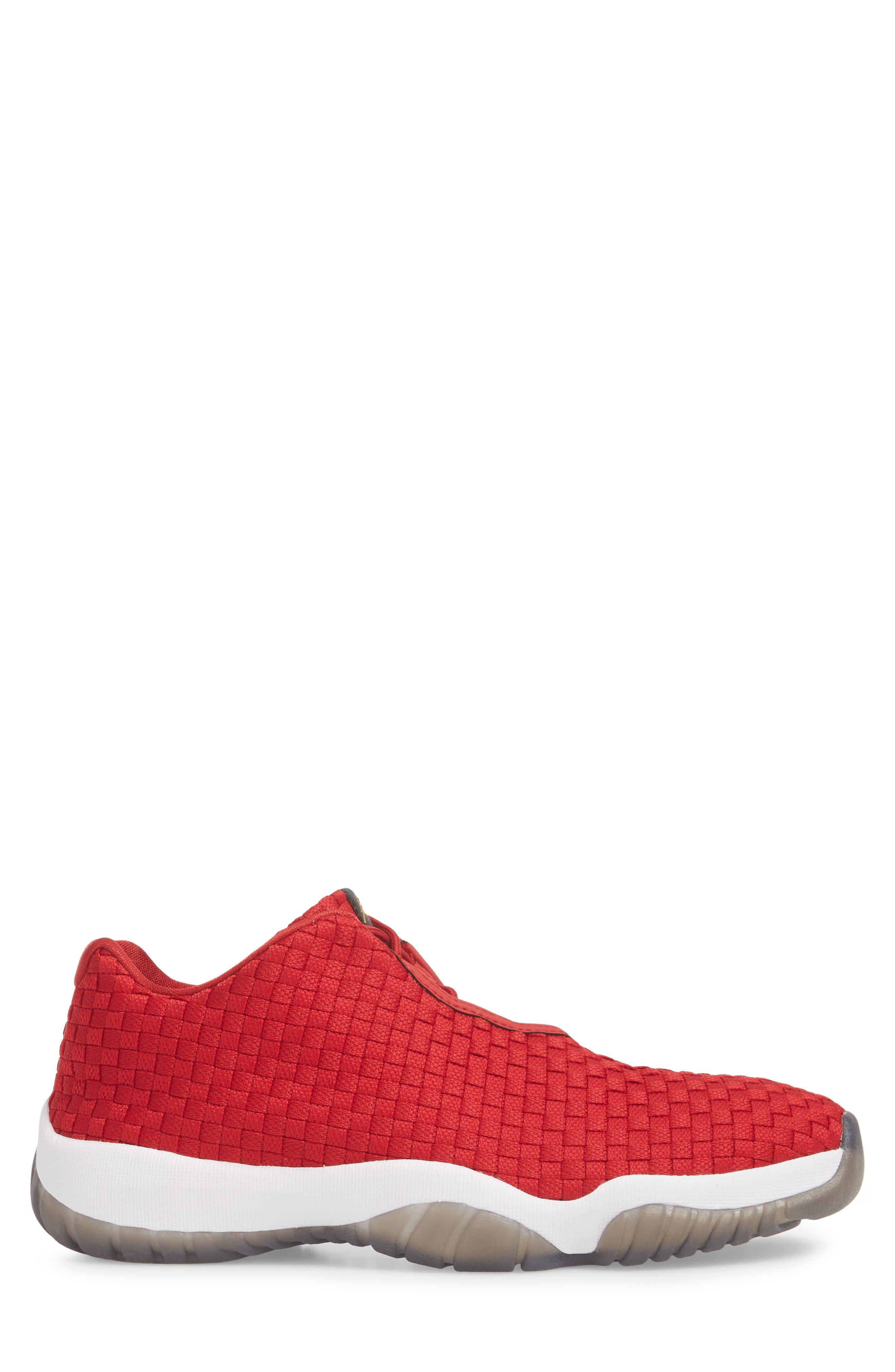 Air Jordan Future Woven Sneaker,                             Alternate thumbnail 3, color,                             Gym Red/ White/ Black