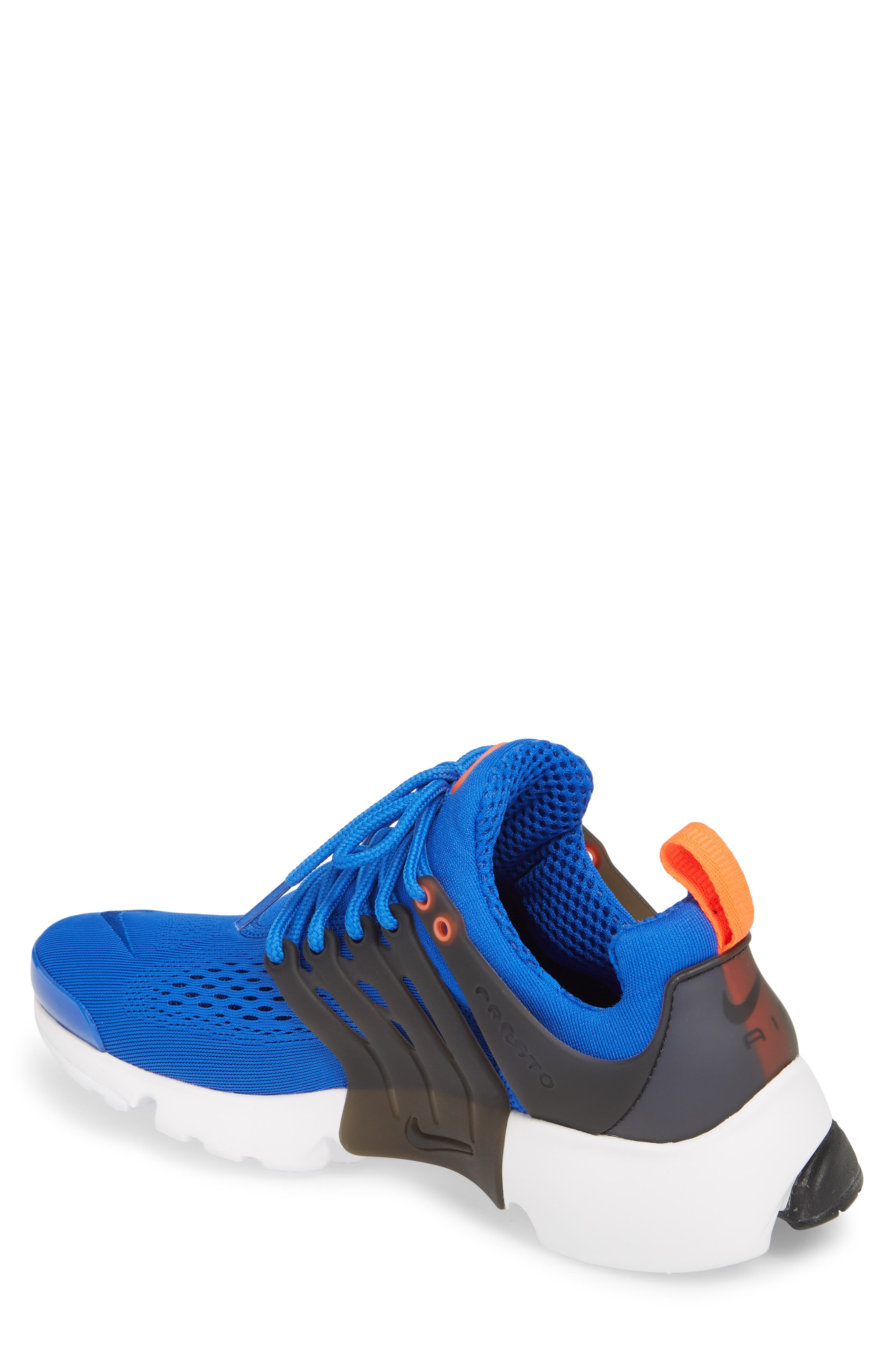 Air Presto Ultra Breathe Sneaker,                             Alternate thumbnail 2, color,                             Racer Blue/ Total Crimson