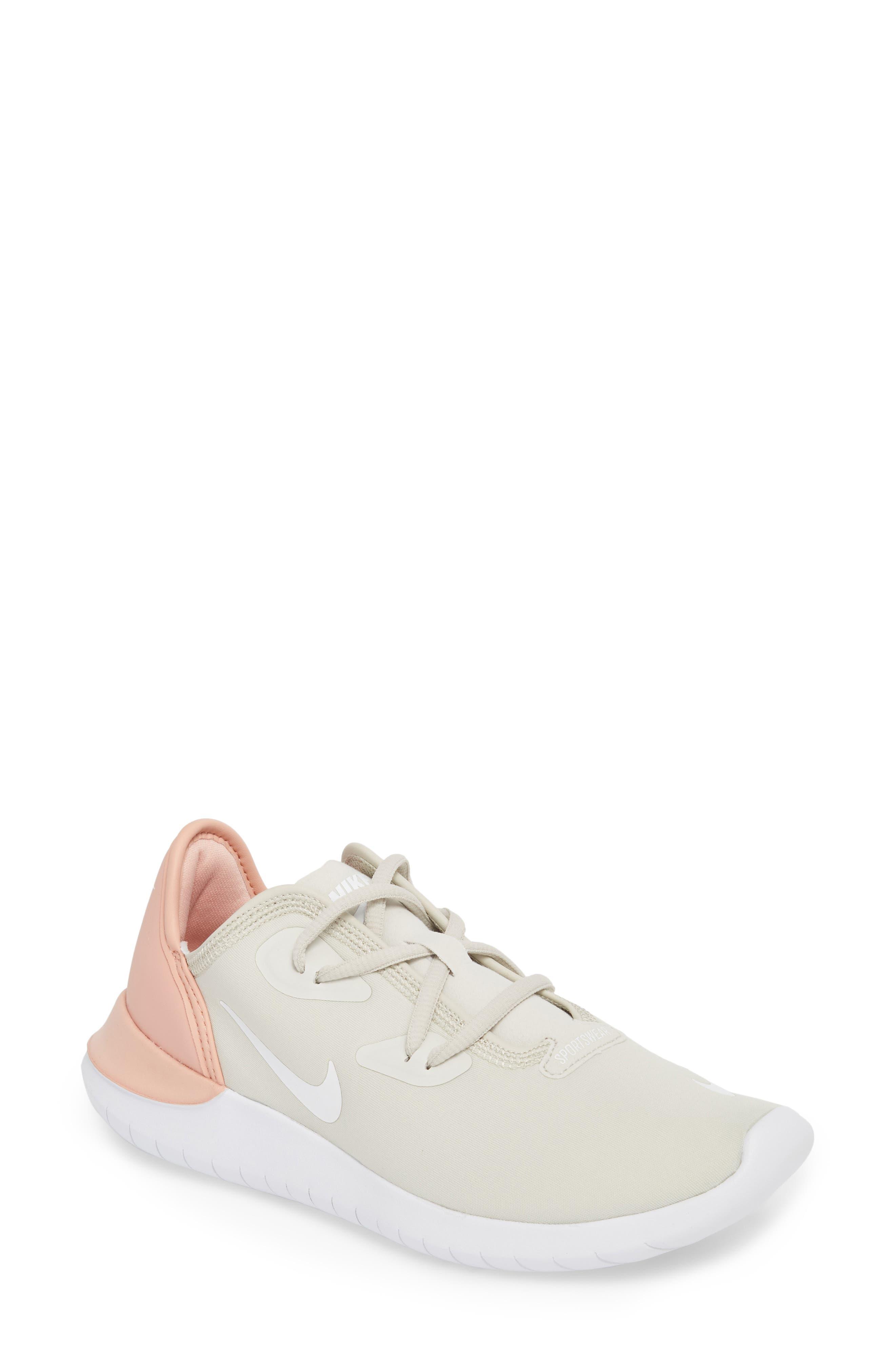 Hakata Sneaker,                         Main,                         color, Light Bone/ White/ Coral