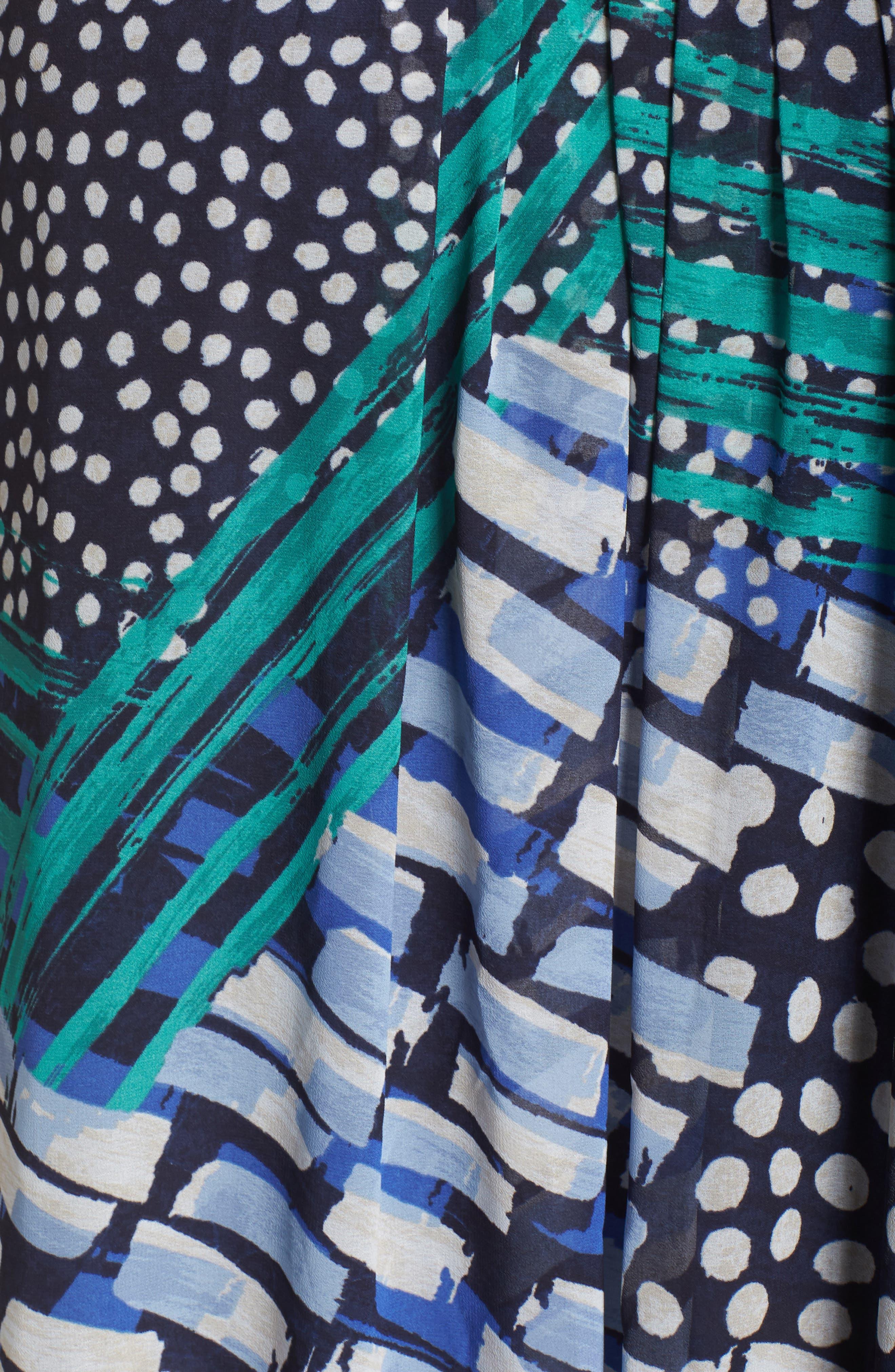 Bloom Me Away Print Maxi Dress,                             Alternate thumbnail 6, color,                             Multi