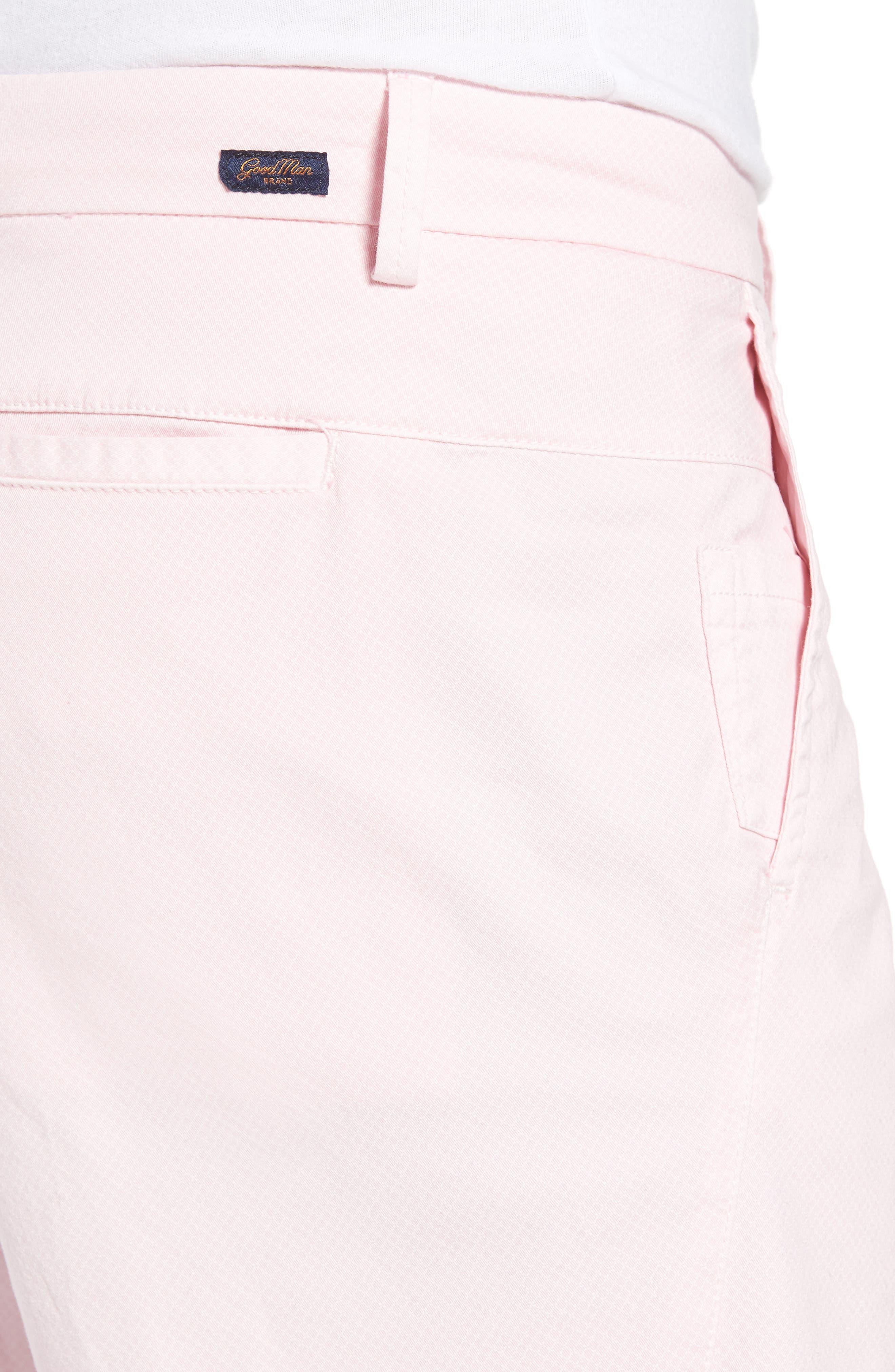 Monaco Diamond Dash Modern Fit Chino Shorts,                             Alternate thumbnail 4, color,                             Pink