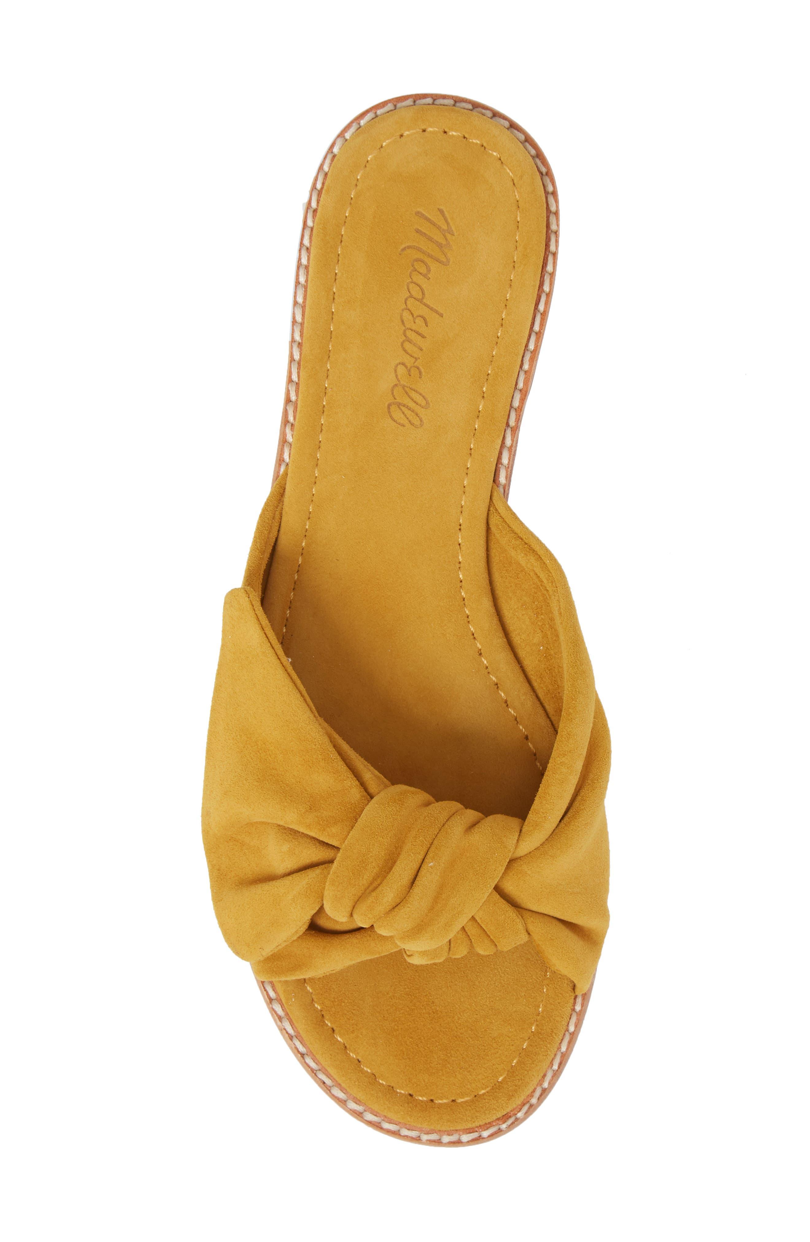 Naida Slide Sandal,                             Alternate thumbnail 5, color,                             Cider Leather