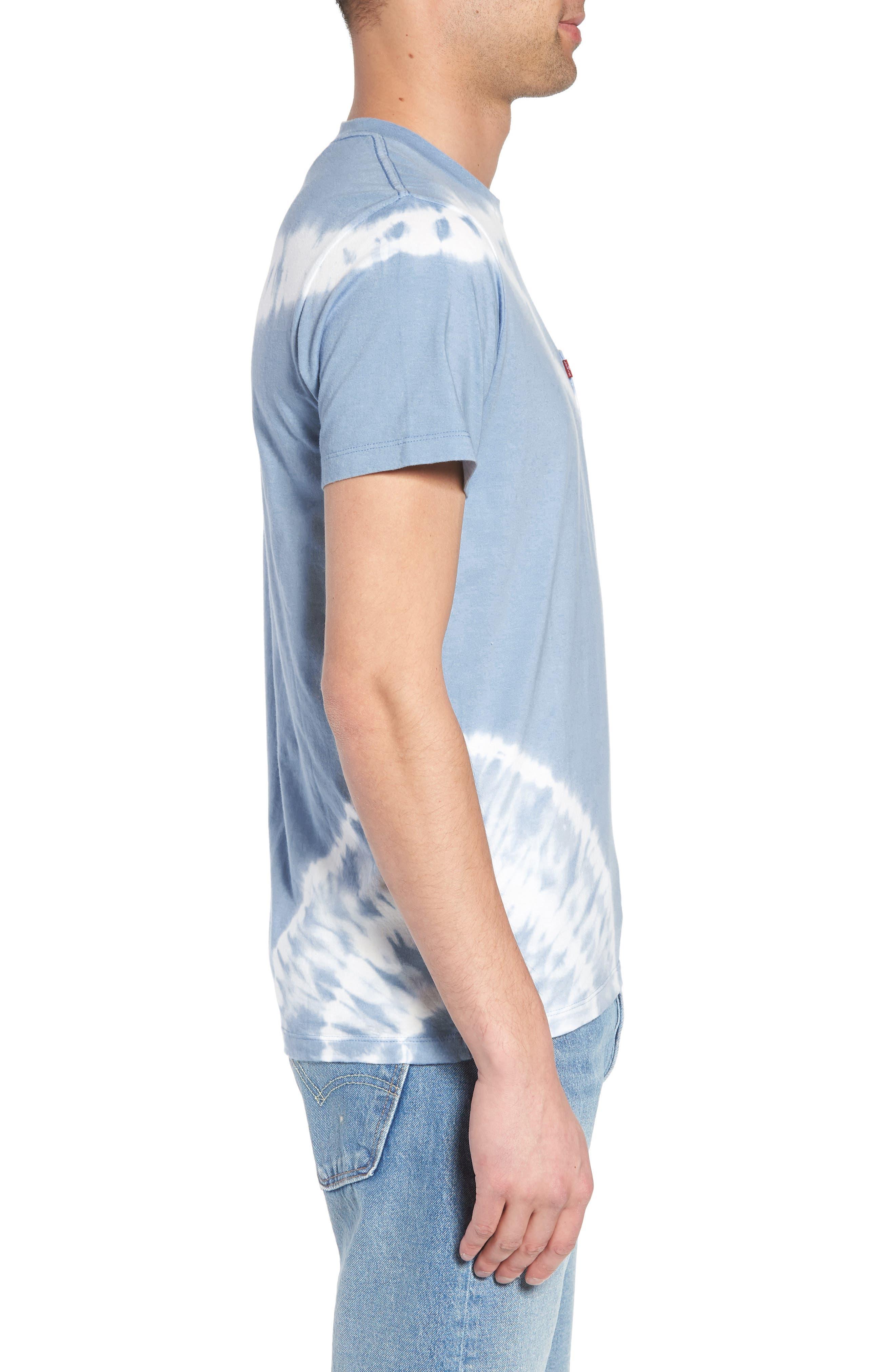 Set-In Sunset Pocket T-Shirt,                             Alternate thumbnail 3, color,                             Tie Dye Allure