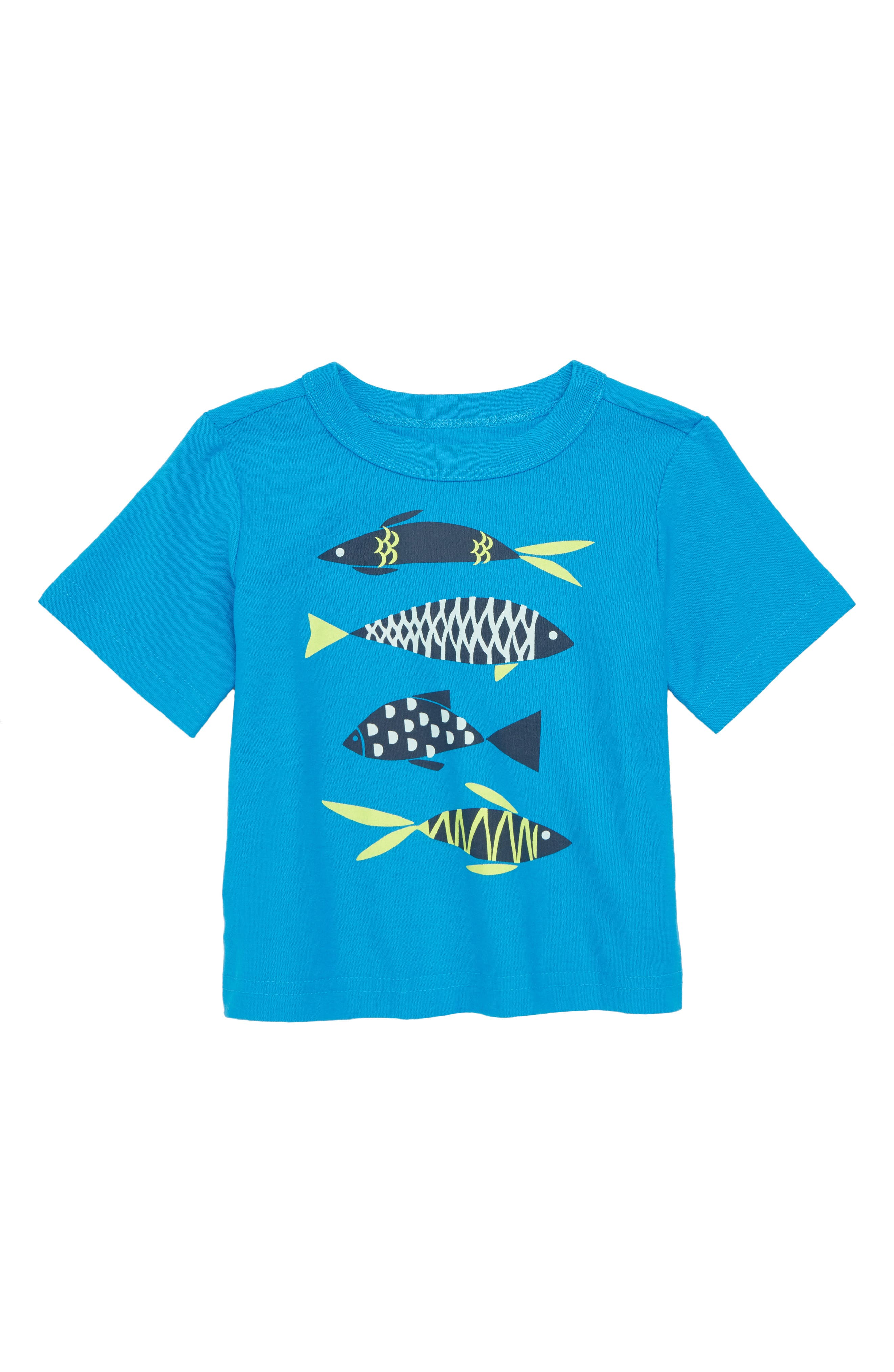 School of Fish Graphic T-Shirt,                             Main thumbnail 1, color,                             Tropic
