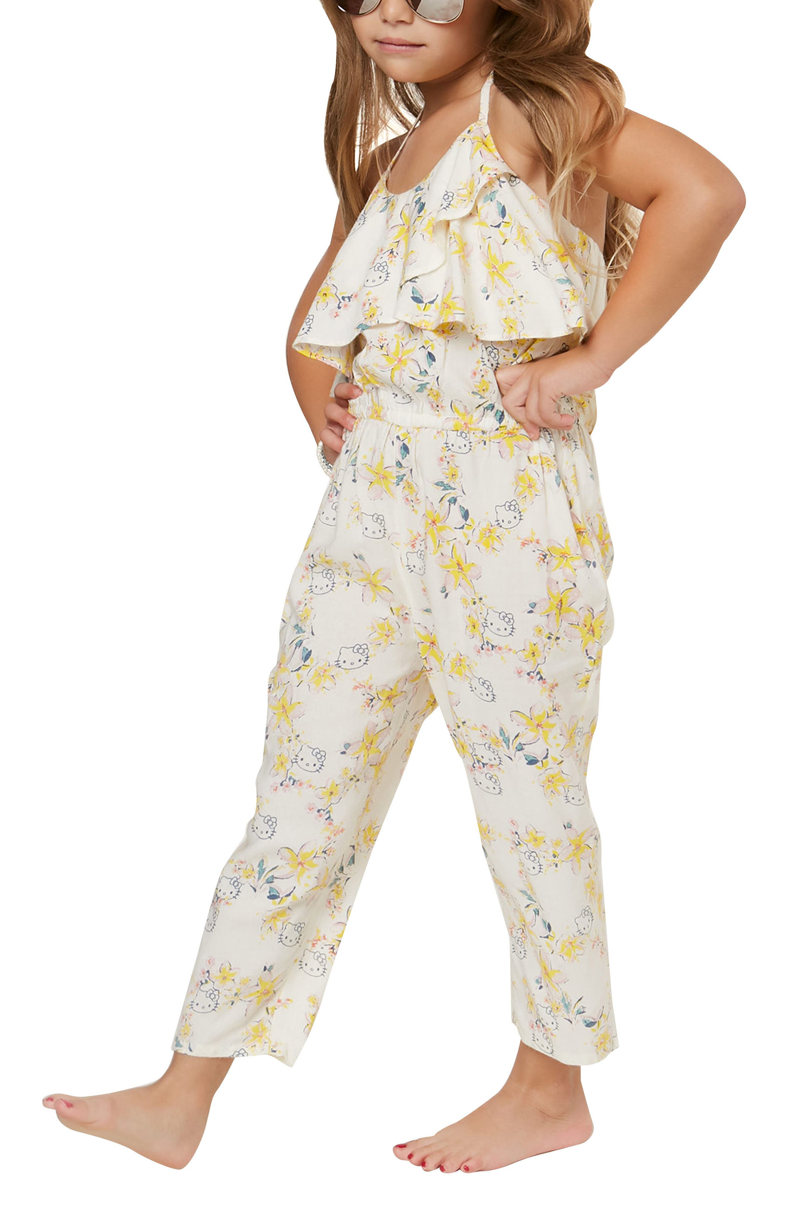 O'Neill x Hello Kitty® Moani Ruffle Jumpsuit (Toddler Girls & Little Girls)