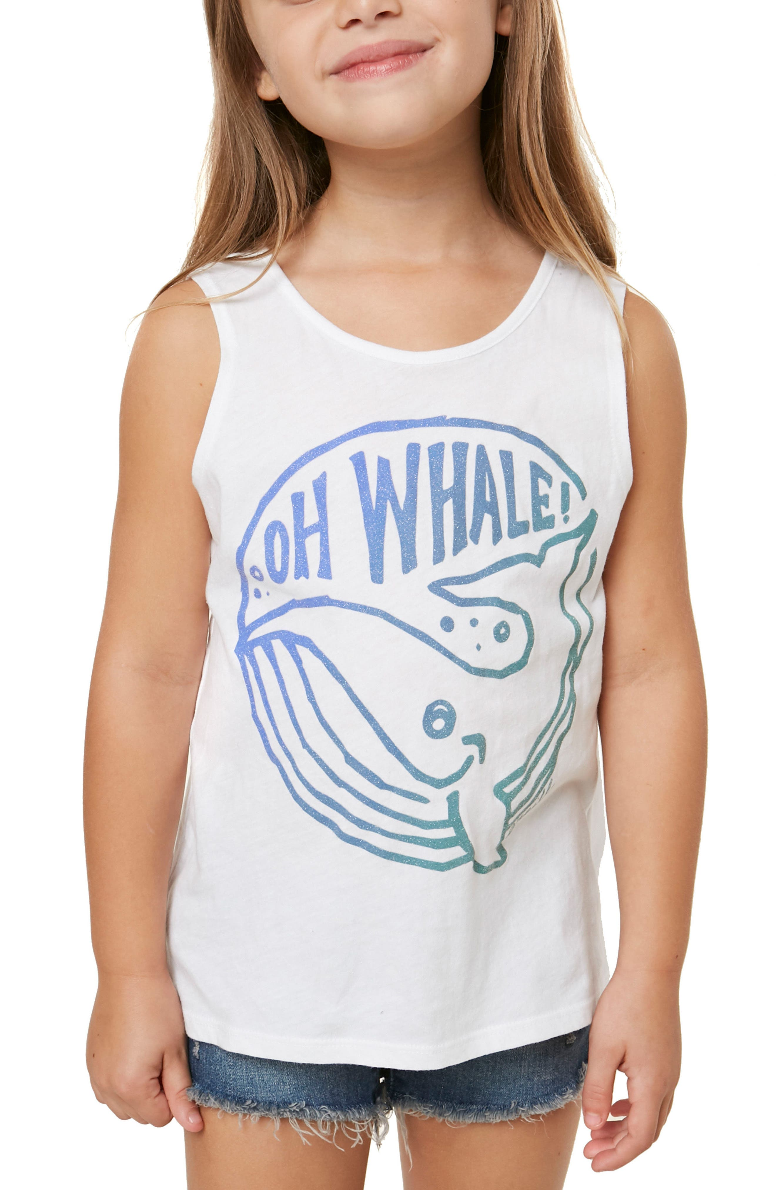 Oh Whale Graphic Tank,                             Alternate thumbnail 4, color,                             White