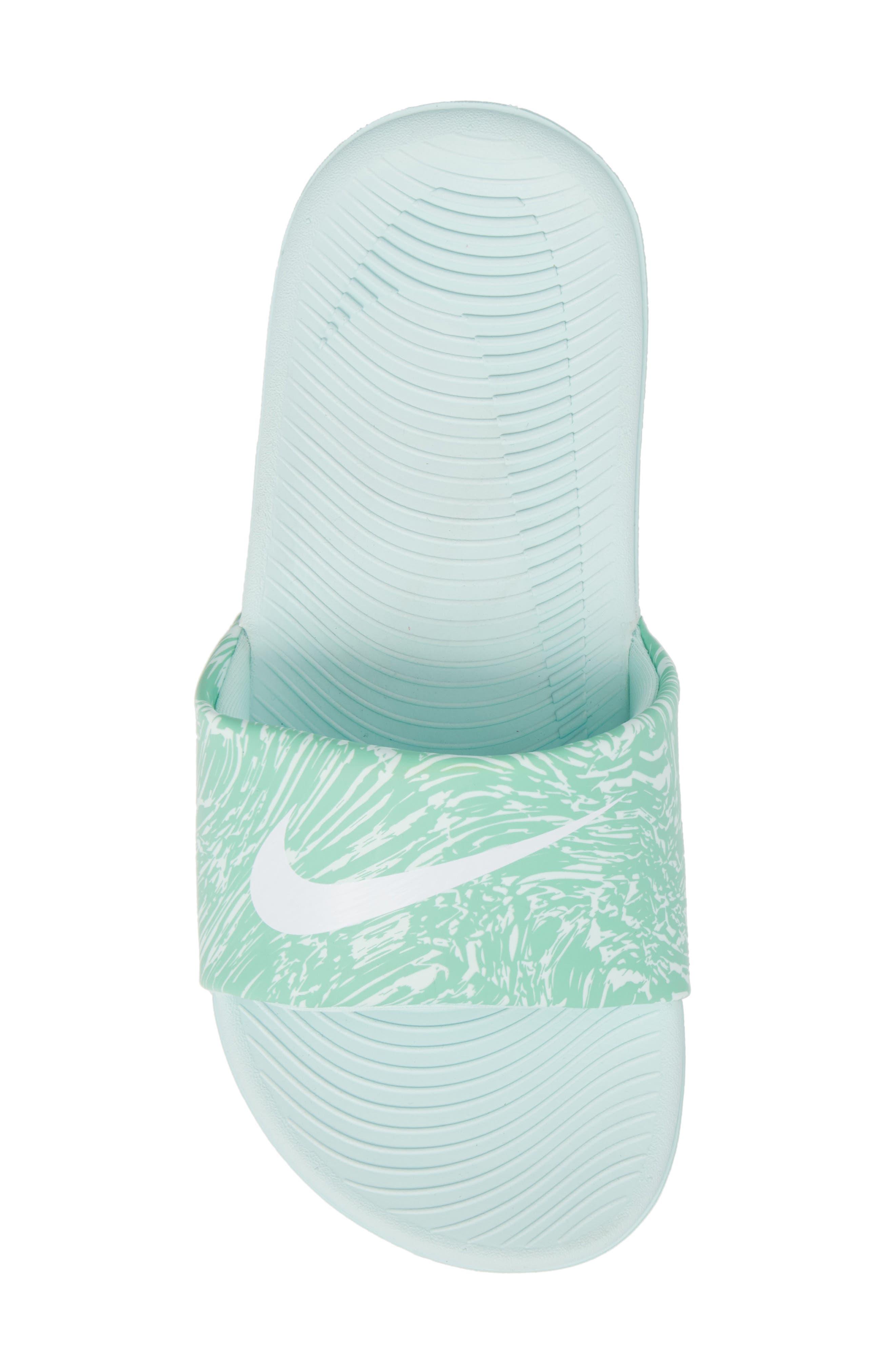 'Kawa' Print Slide Sandal,                             Alternate thumbnail 5, color,                             Emerald Rise/ White/ Igloo
