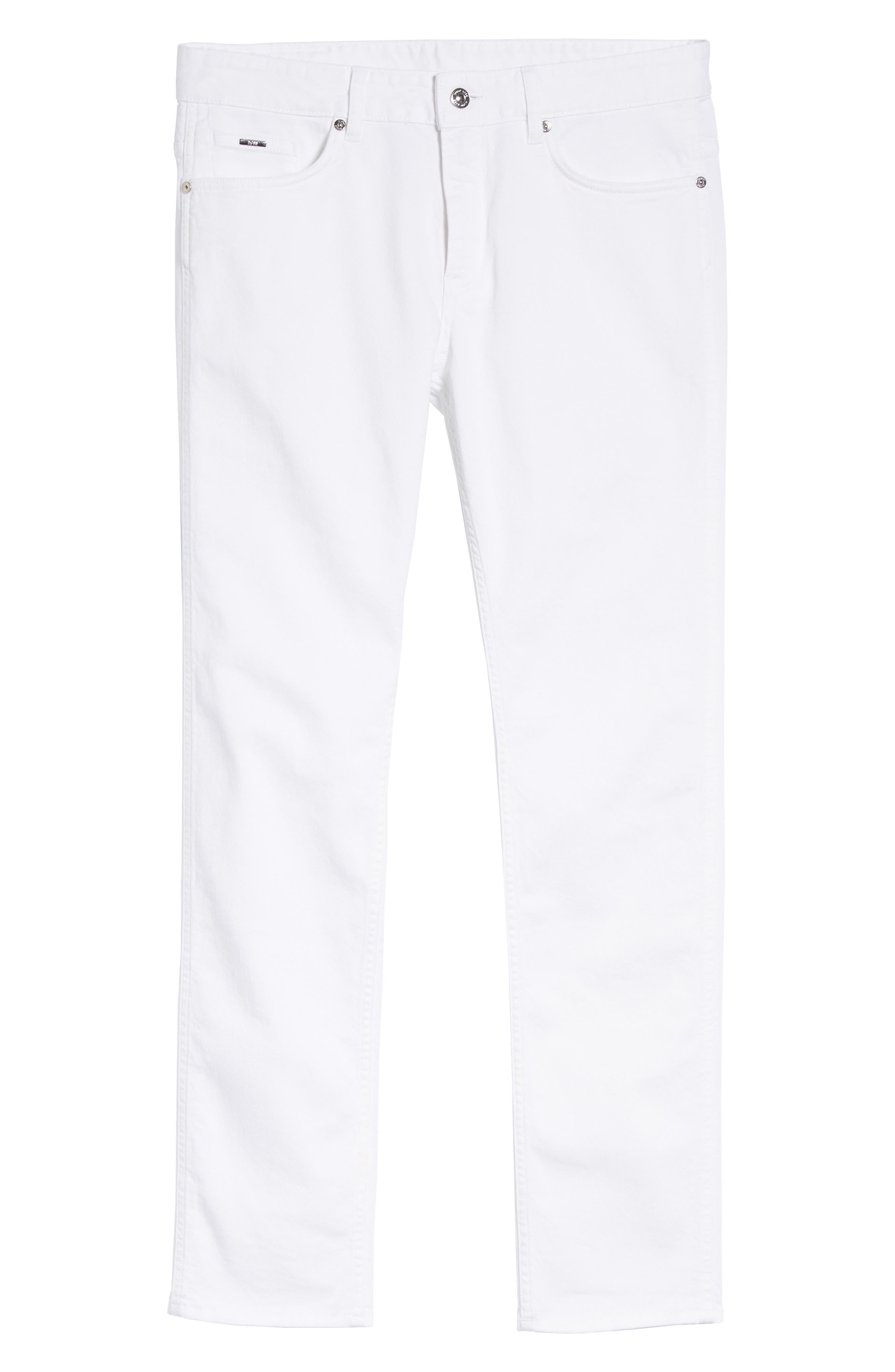 Delaware Slim Fit Jeans,                             Alternate thumbnail 6, color,                             White