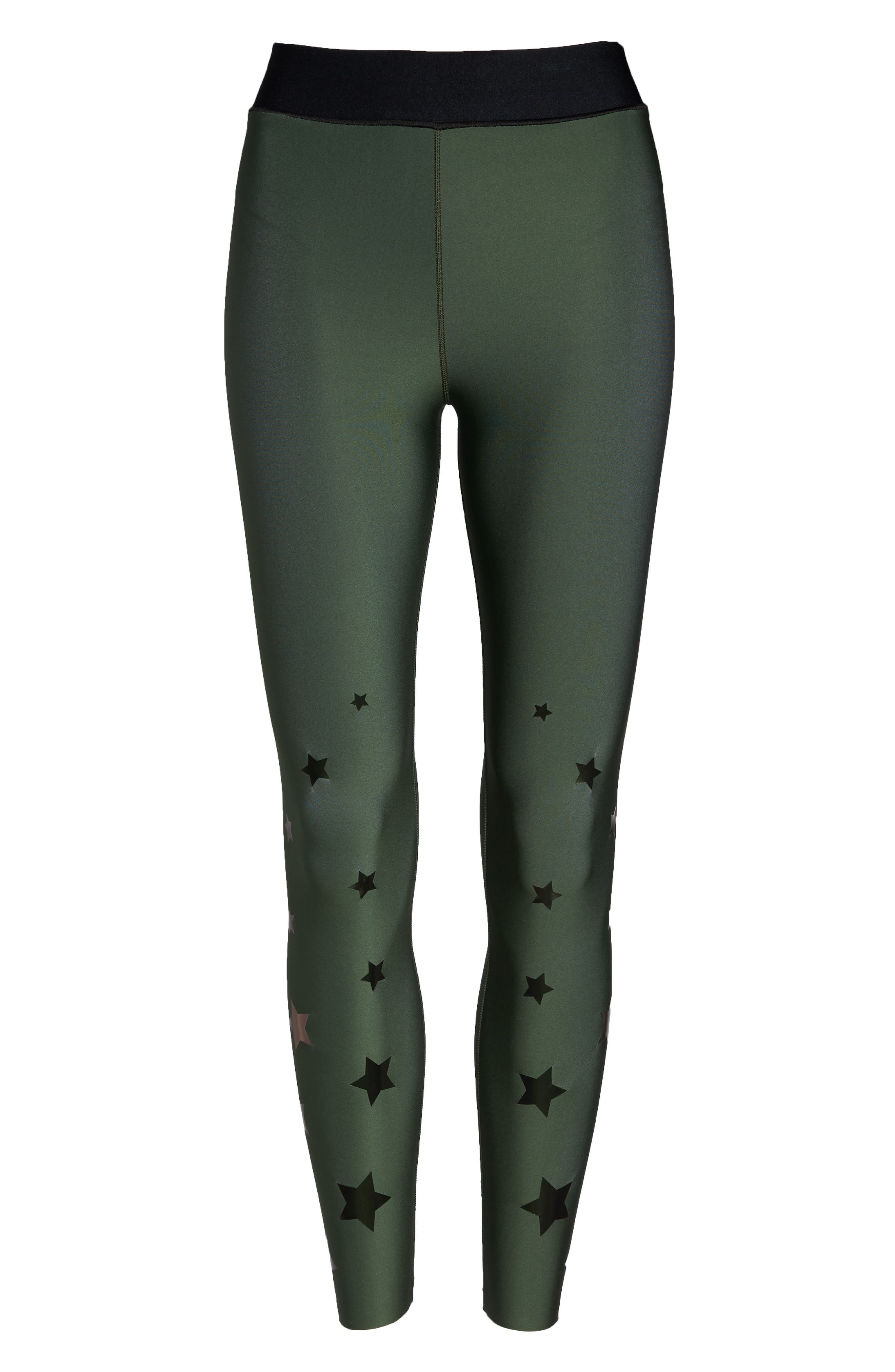 Ultra Luster Leggings,                             Alternate thumbnail 6, color,                             Army Green Beetle