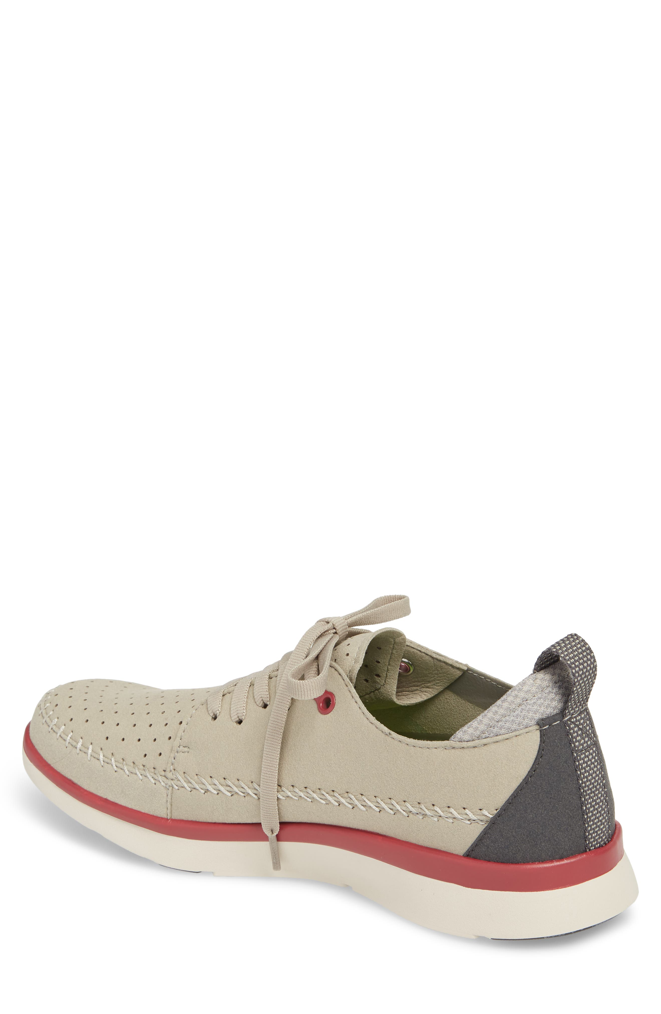 Worldwide Crane Perforated Sneaker,                             Alternate thumbnail 2, color,                             Grey