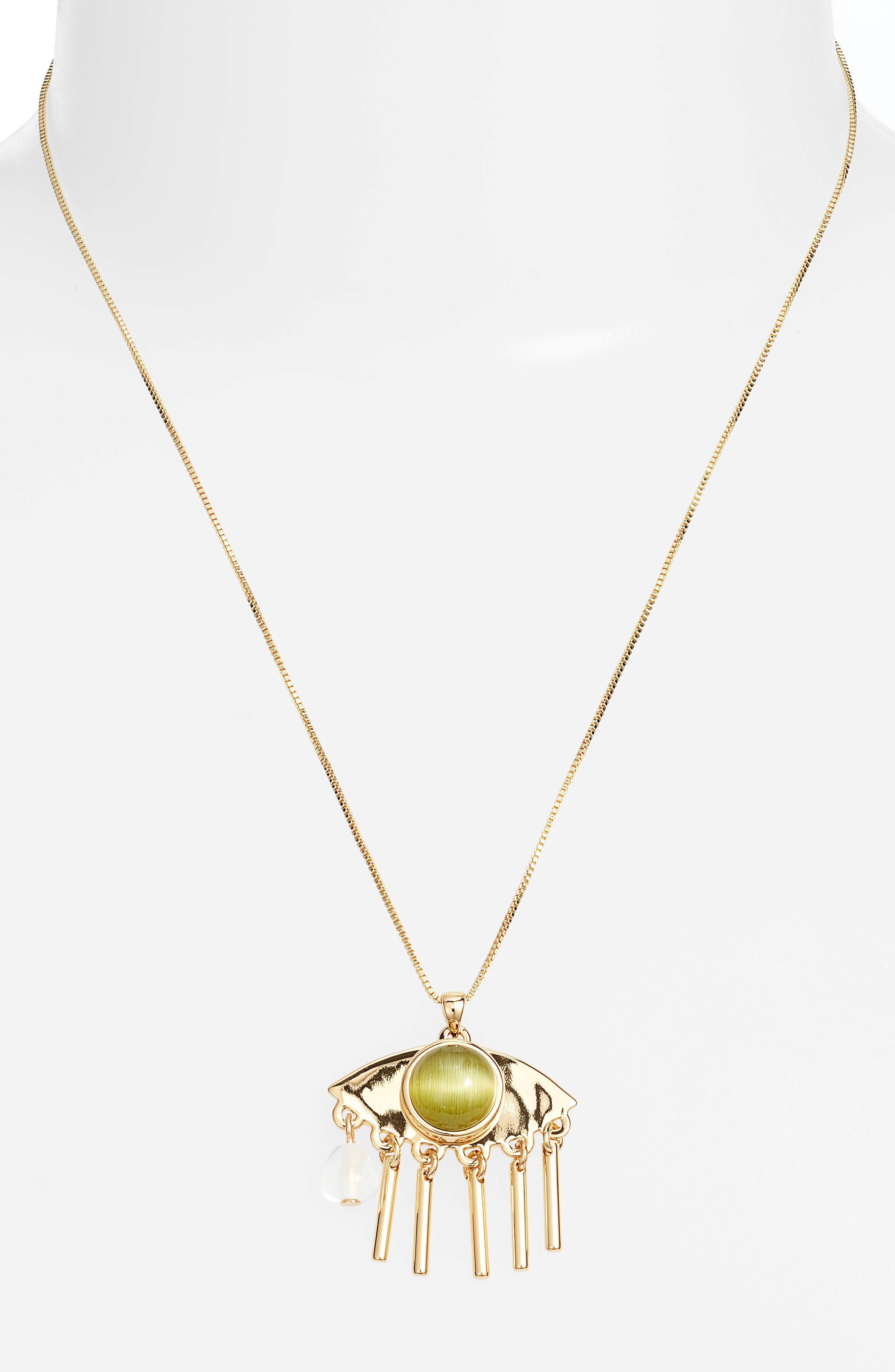 La Fille Pendant Necklace,                             Alternate thumbnail 2, color,                             Gold