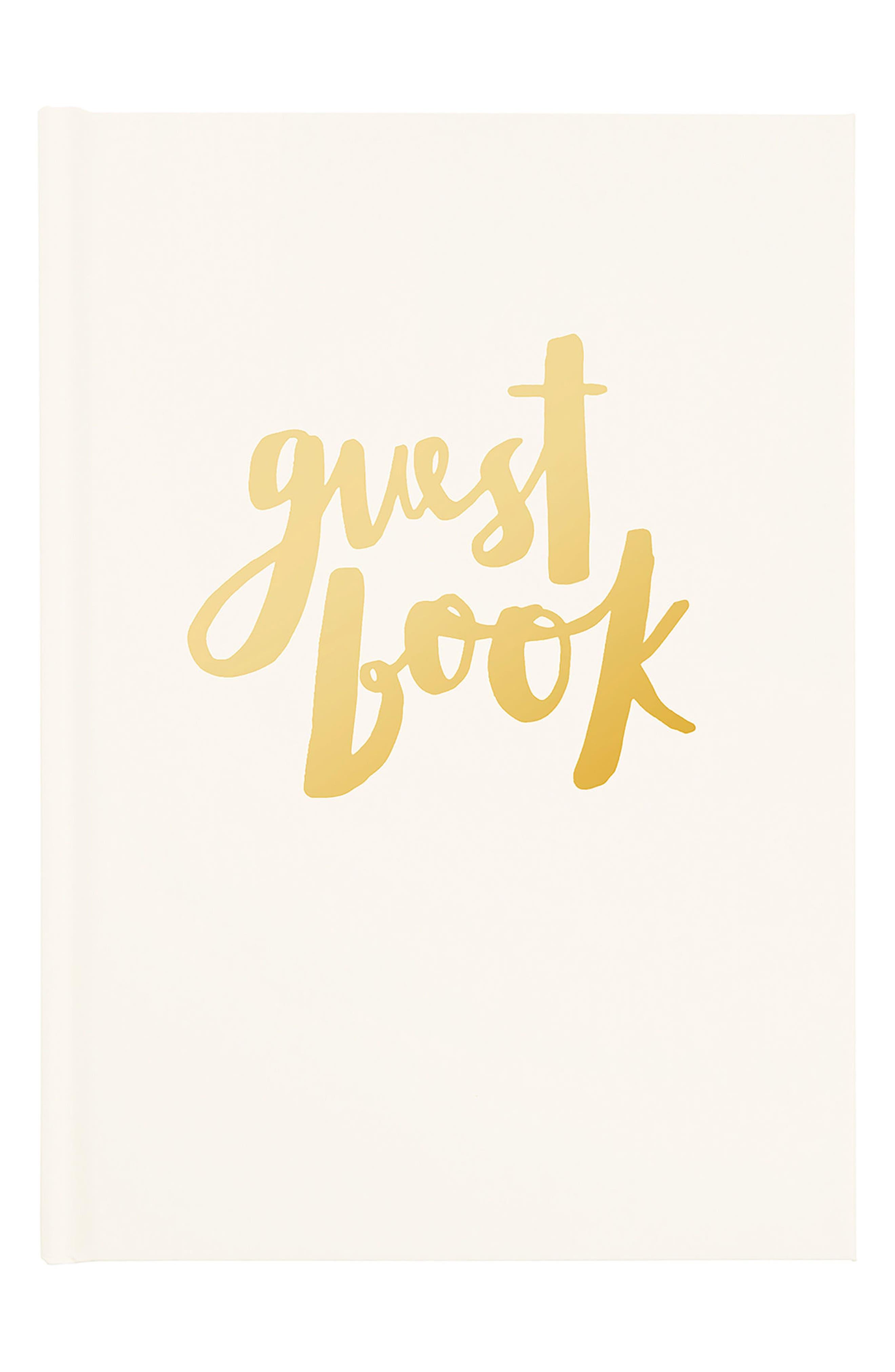 Always & Forever Hardcover Wedding Guestbook,                         Main,                         color, Gold