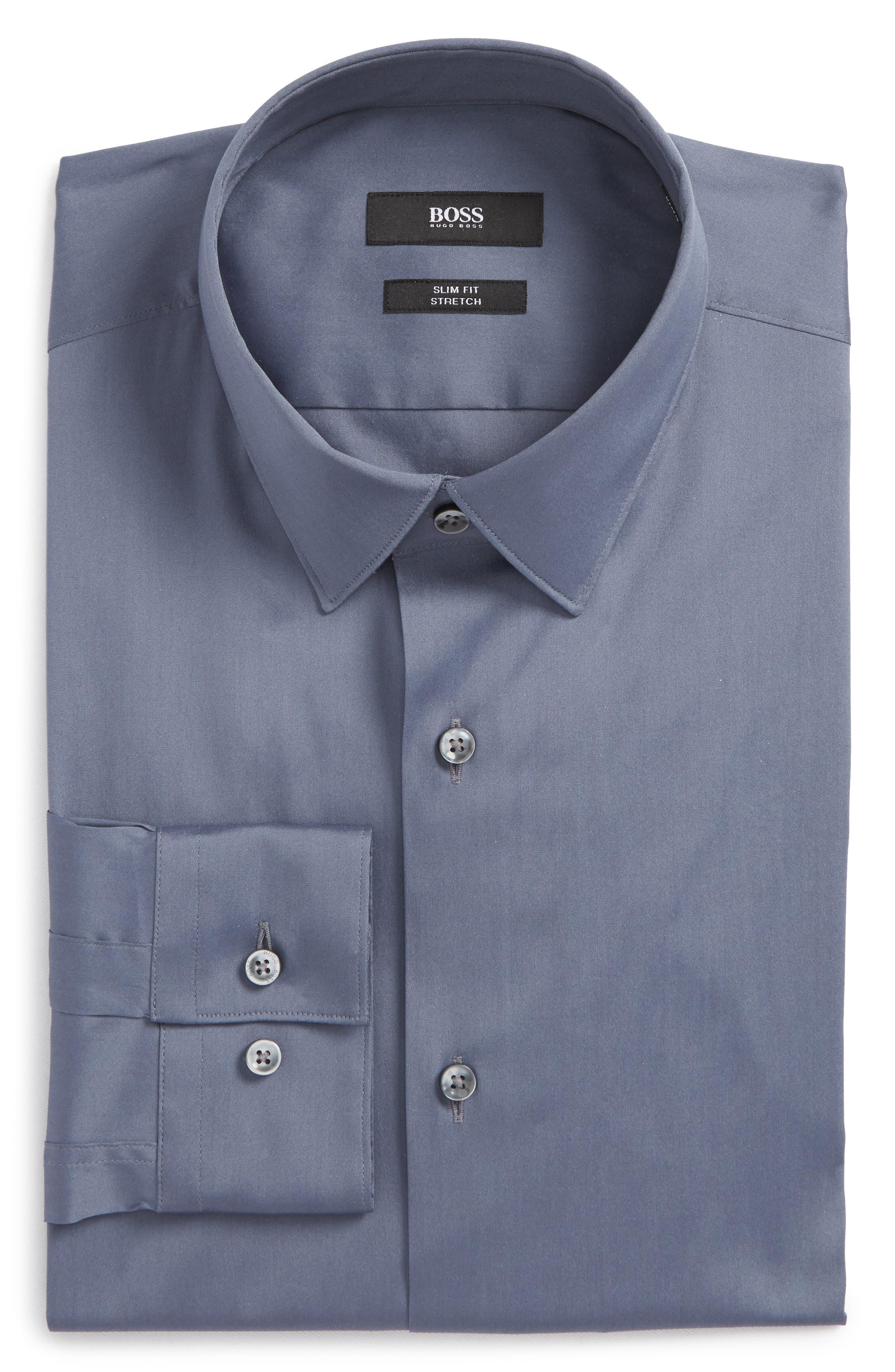 BOSS Llan Slim Fit Stretch Dress Shirt