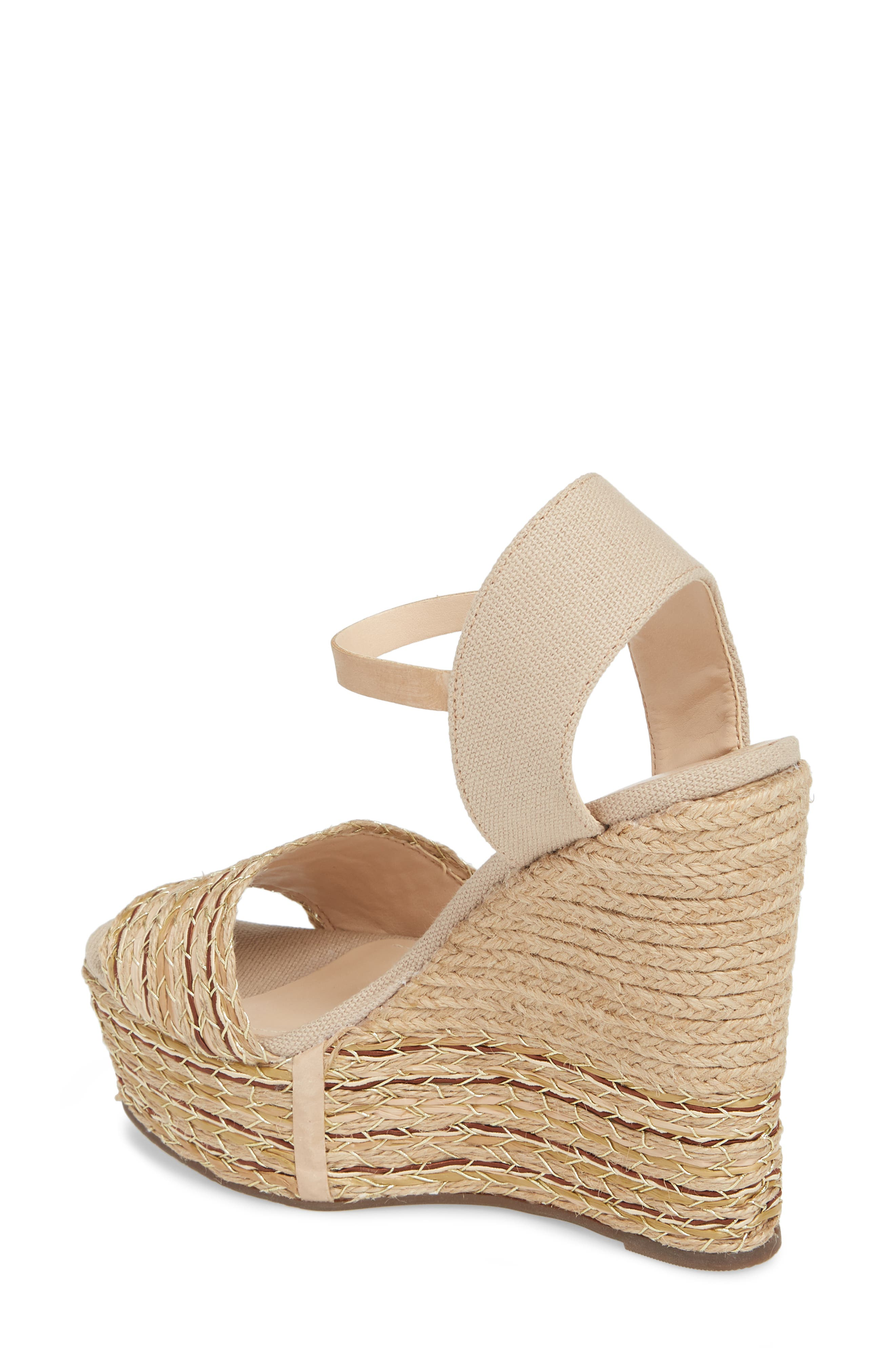 Rilark Platform Wedge Sandal,                             Alternate thumbnail 2, color,                             Coco Fabric