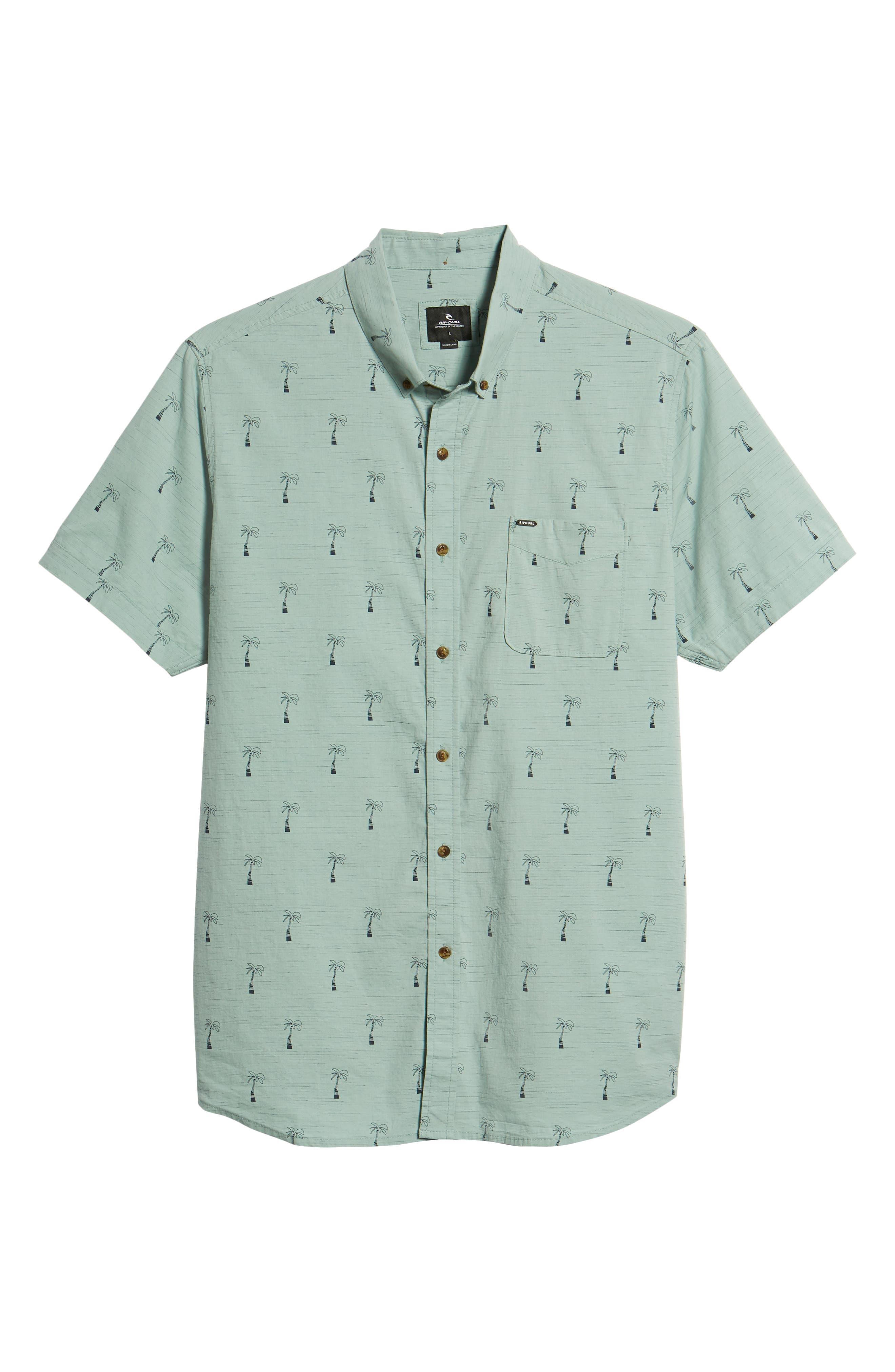 Riviera Woven Shirt,                             Alternate thumbnail 6, color,                             Aqua