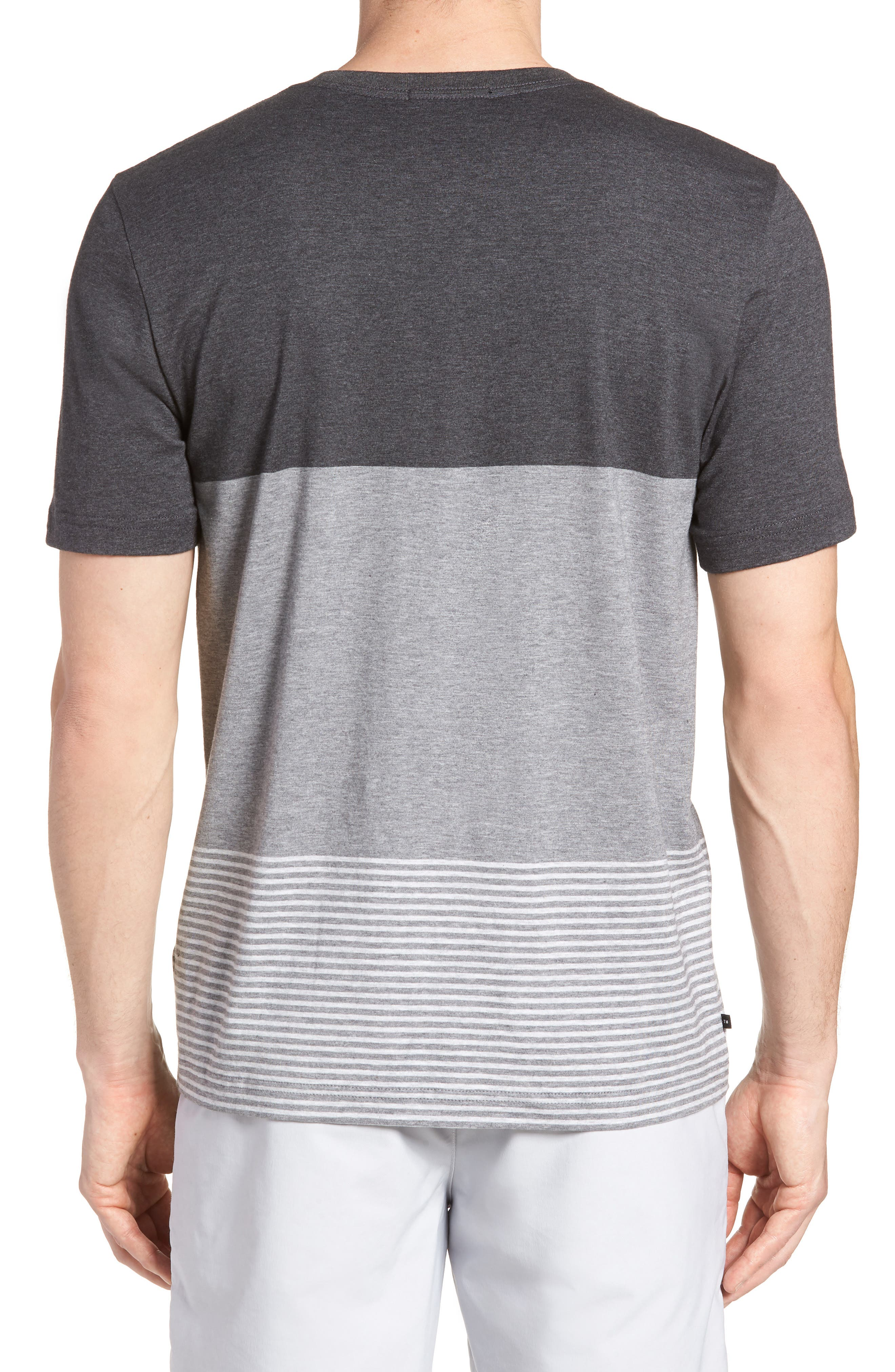 Kramp Colorblock Pocket T-Shirt,                             Alternate thumbnail 2, color,                             Heather Grey Pinstripe