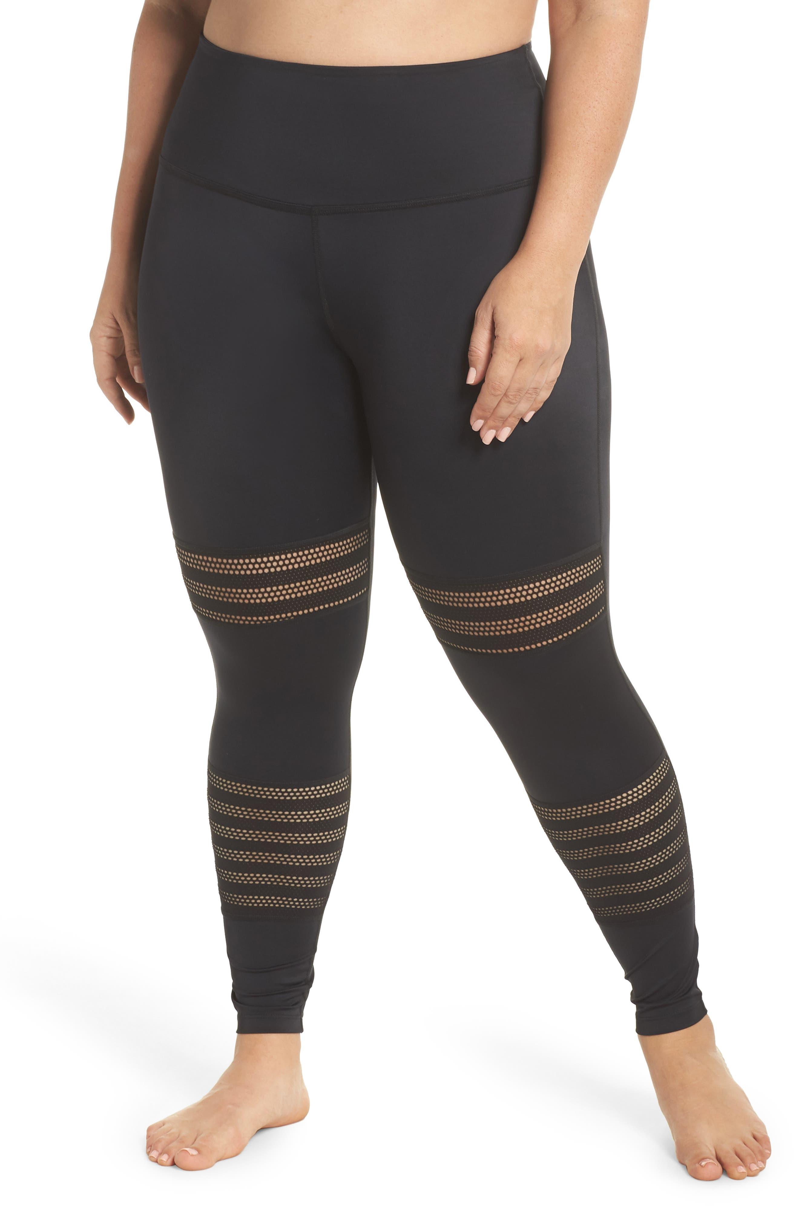 Mesh to Impress High Waist Leggings,                         Main,                         color, Black