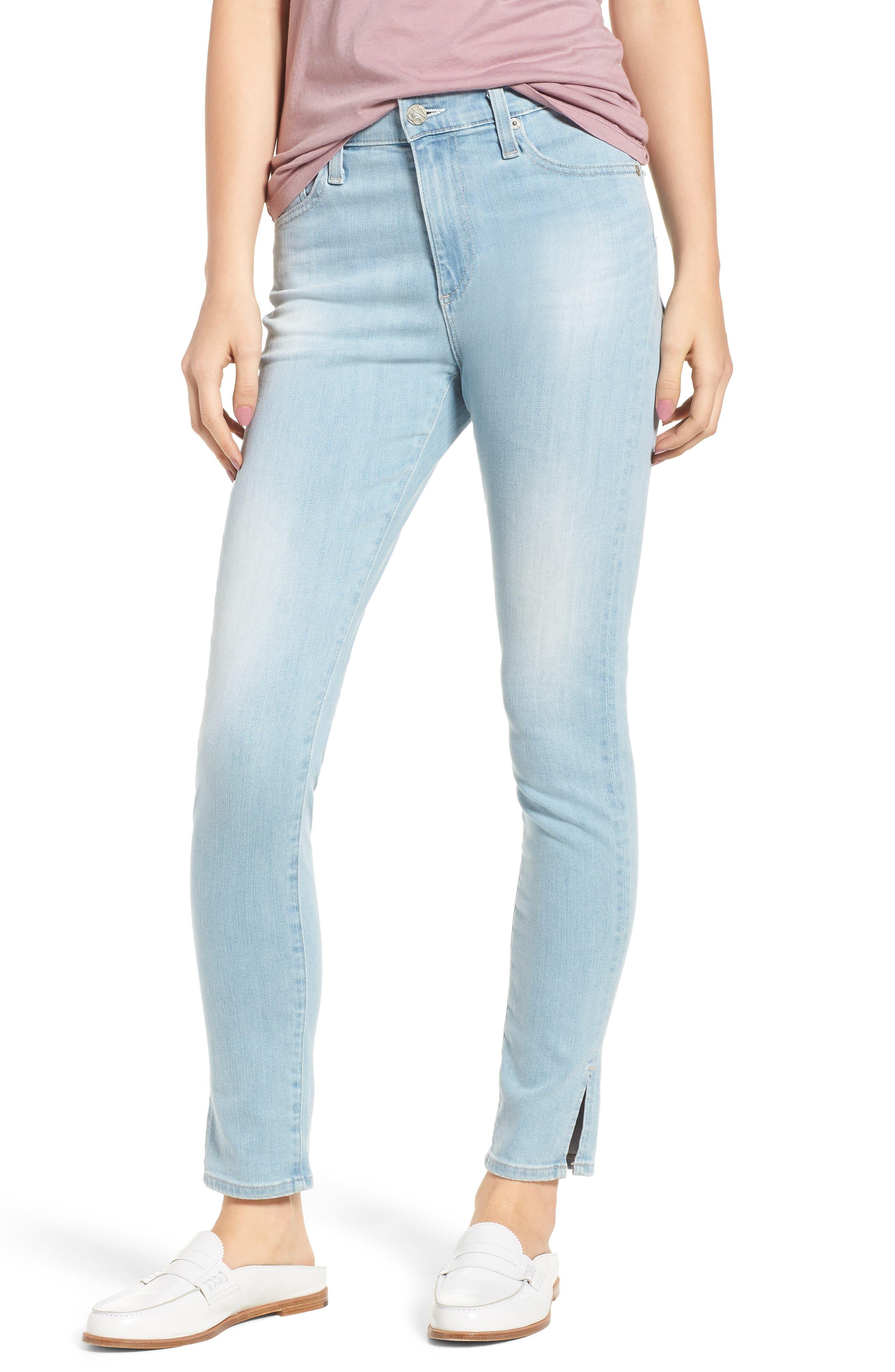 Farrah High Waist Ankle Skinny Jeans,                         Main,                         color, 20 Years Sutro