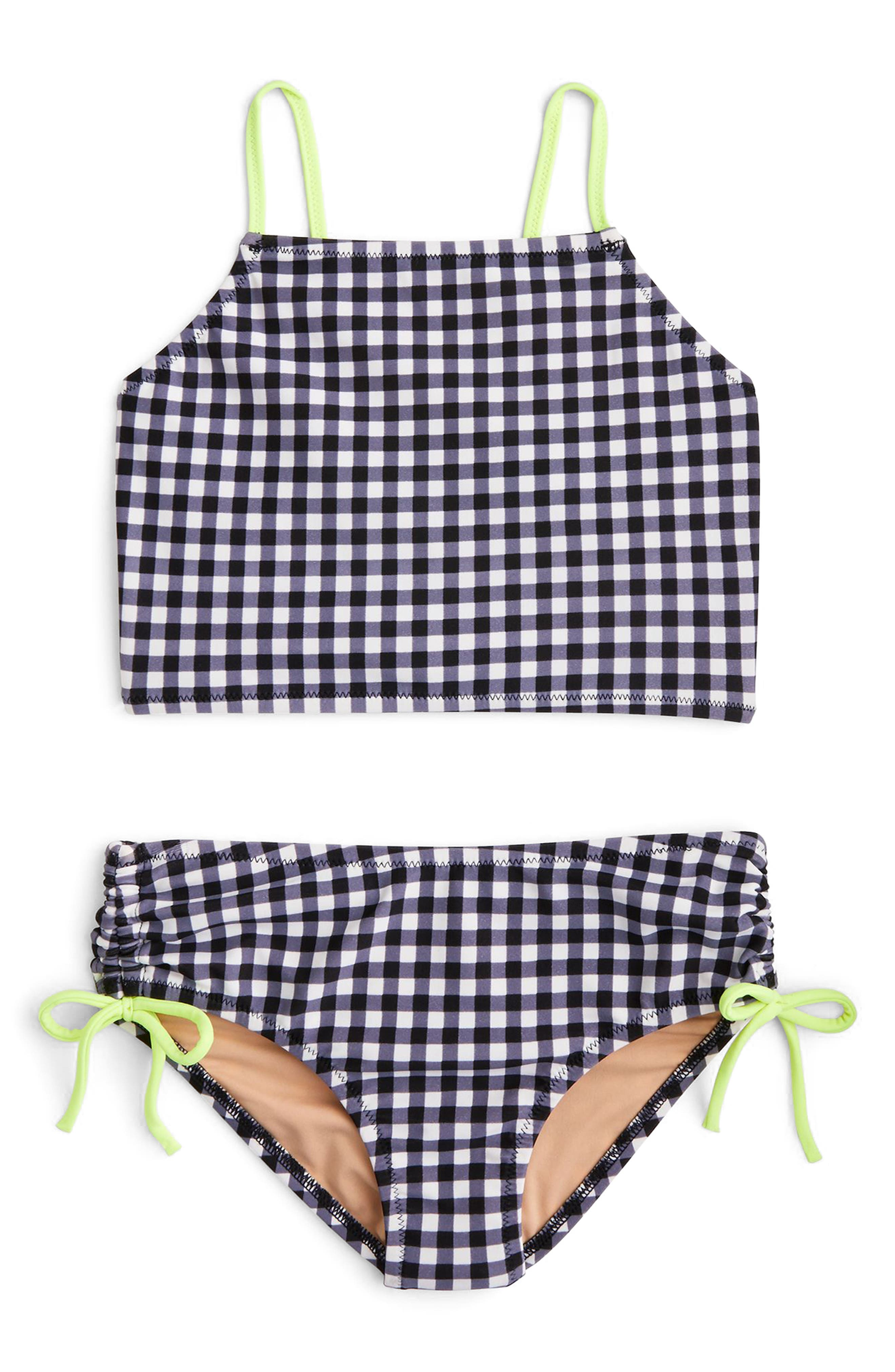 crewcuts by J. Crew Leia Gingham Two-Piece Swimsuit (Toddler Girls, Little Girls & Big Girls)