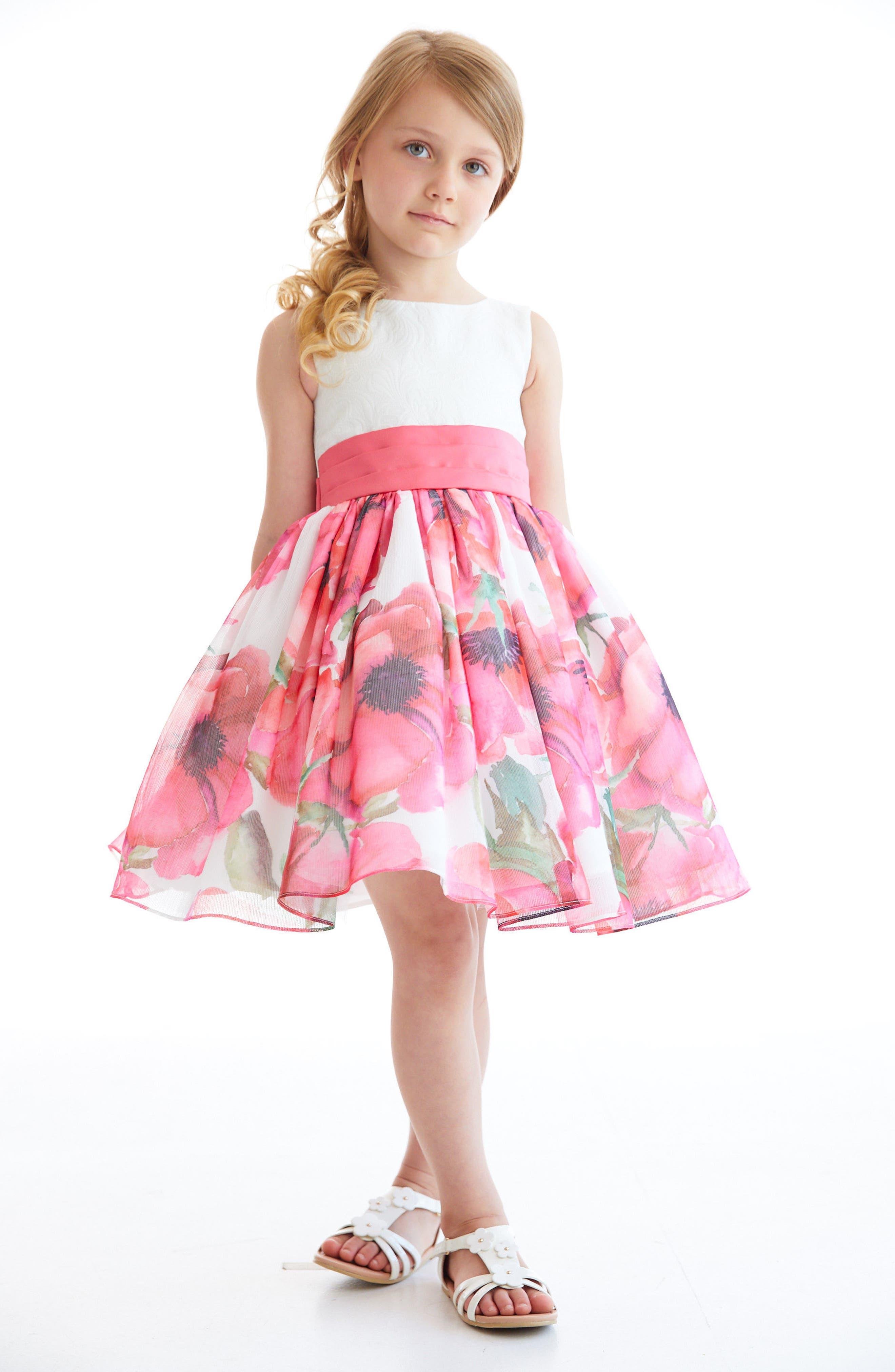 Resa Floral Party Dress,                             Alternate thumbnail 2, color,                             Multi Floral