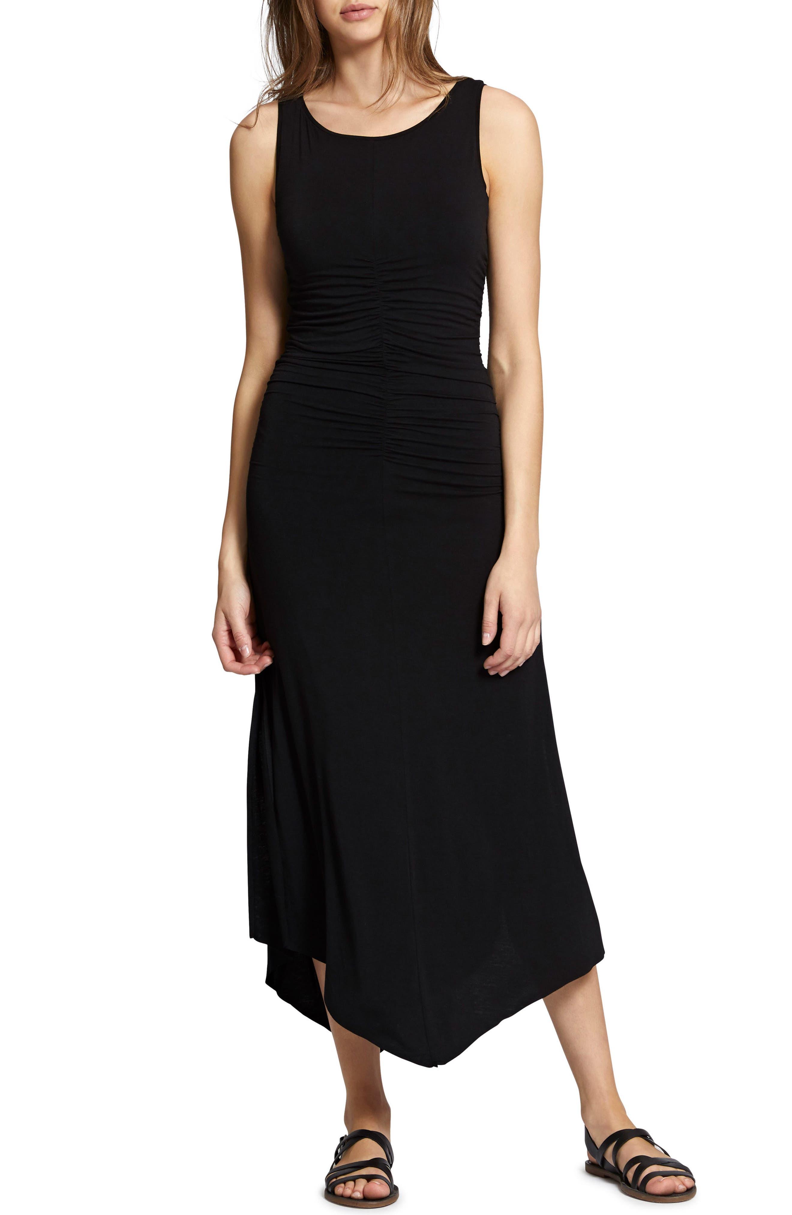 Samba Midi Tank Dress,                             Main thumbnail 1, color,                             Black