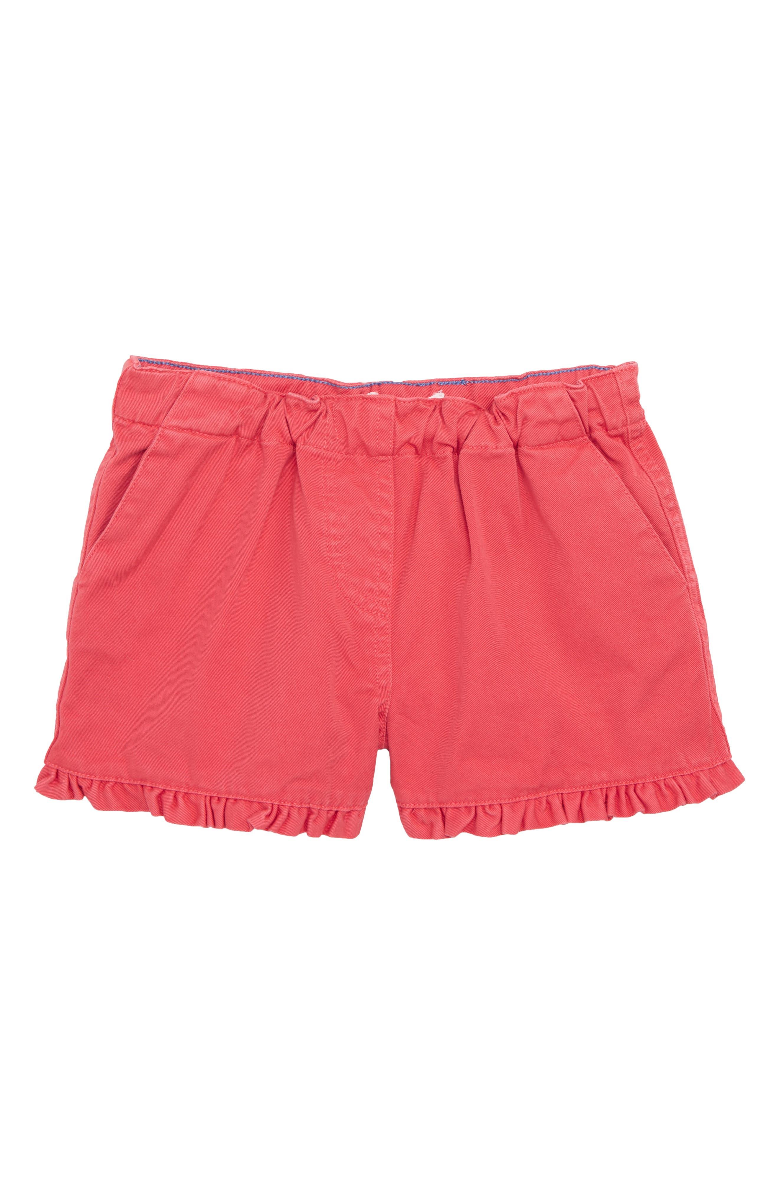 Frill Detail Shorts,                             Main thumbnail 1, color,                             Strawberry Split Pin