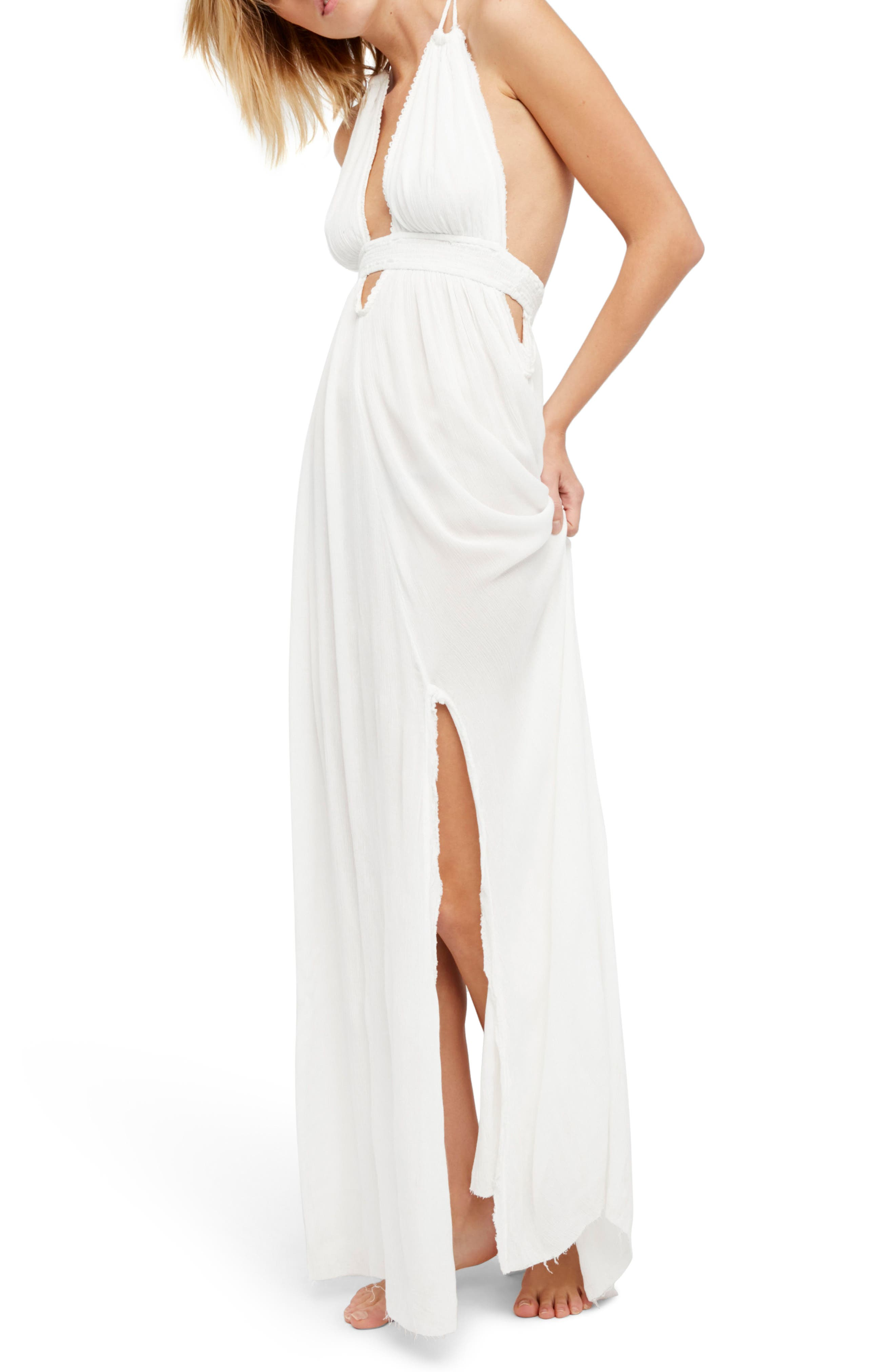 Endless Summer by Free People Look into the Sun Maxi Dress,                             Main thumbnail 1, color,                             Ivory