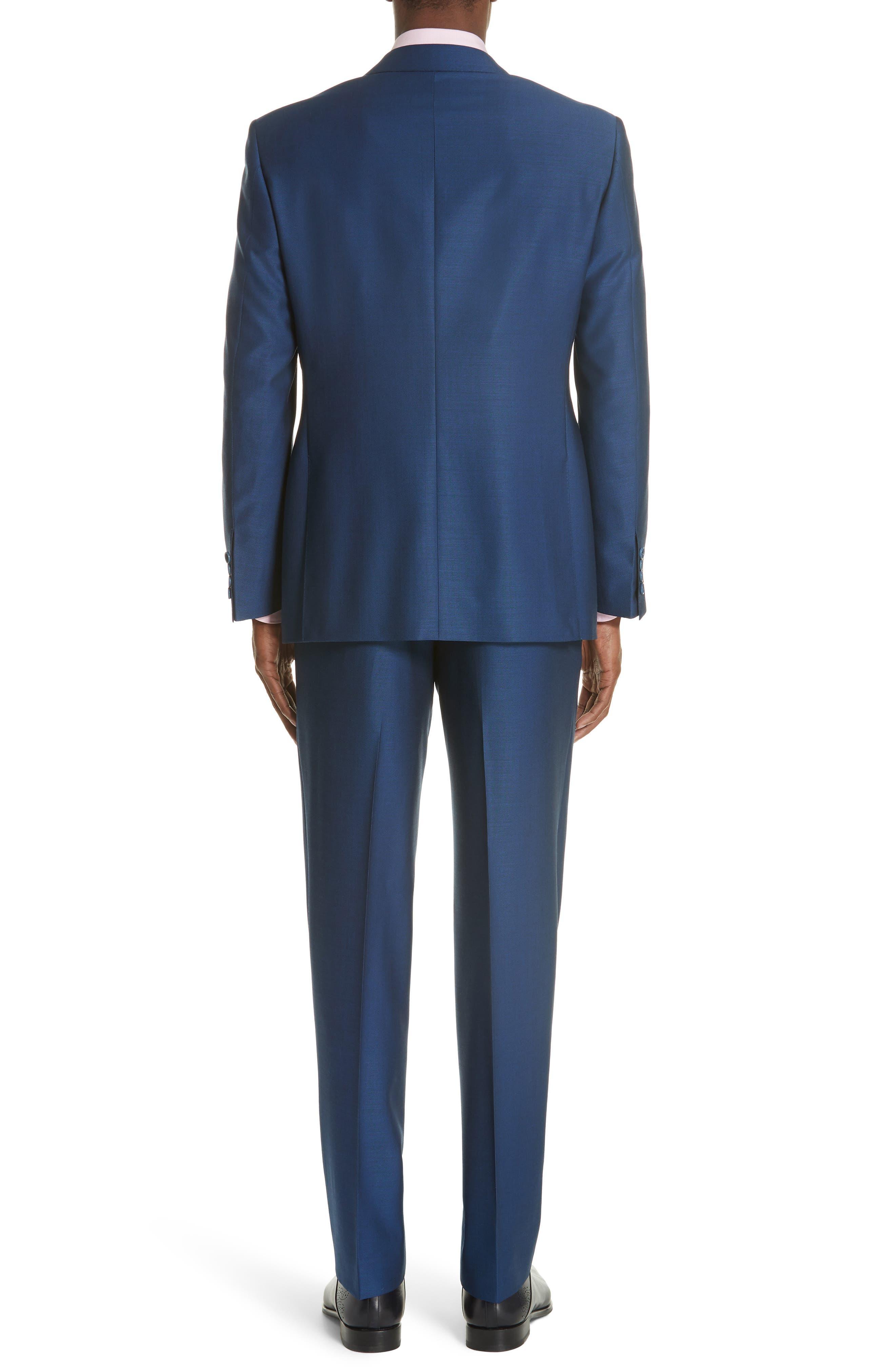 Classic Fit Solid Wool Suit,                             Alternate thumbnail 2, color,                             Blue