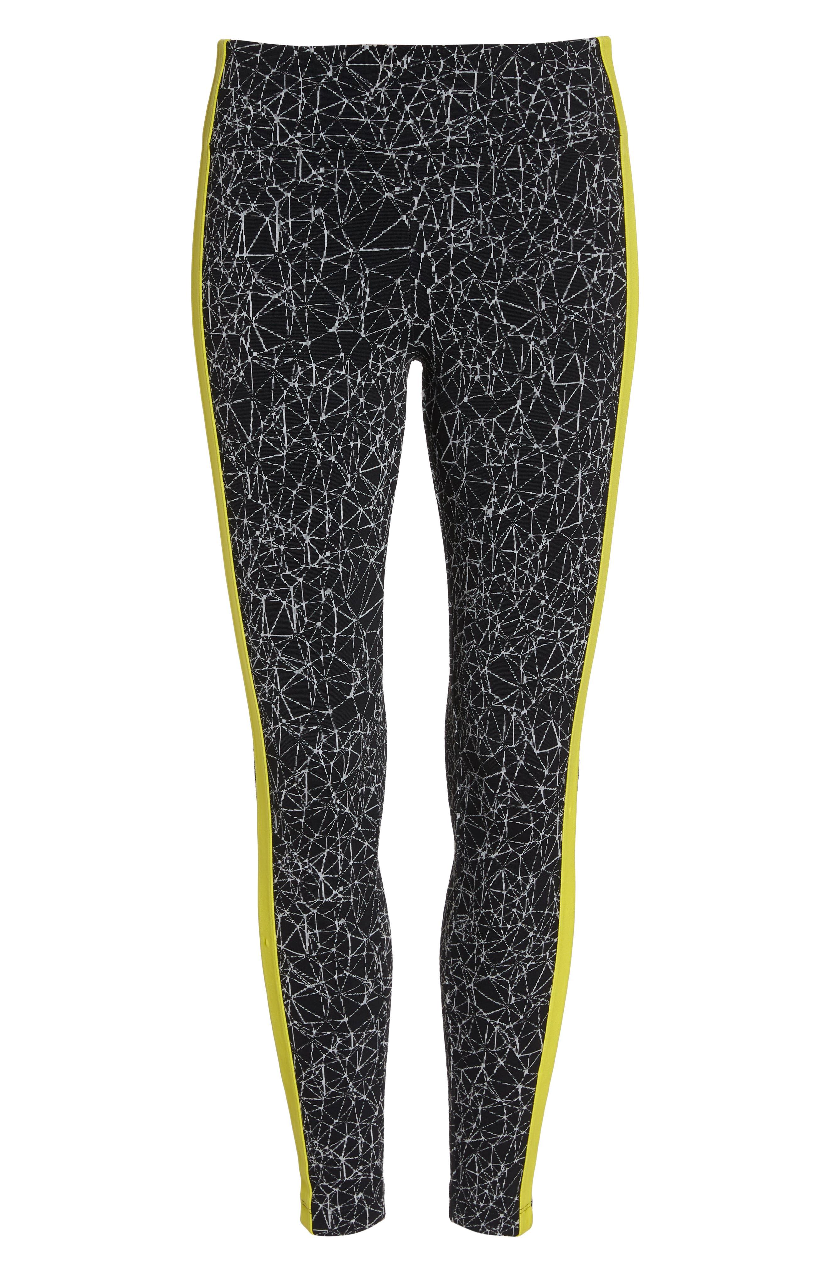 Molecular Wren High Waist Leggings,                             Alternate thumbnail 7, color,                             Molecular Black