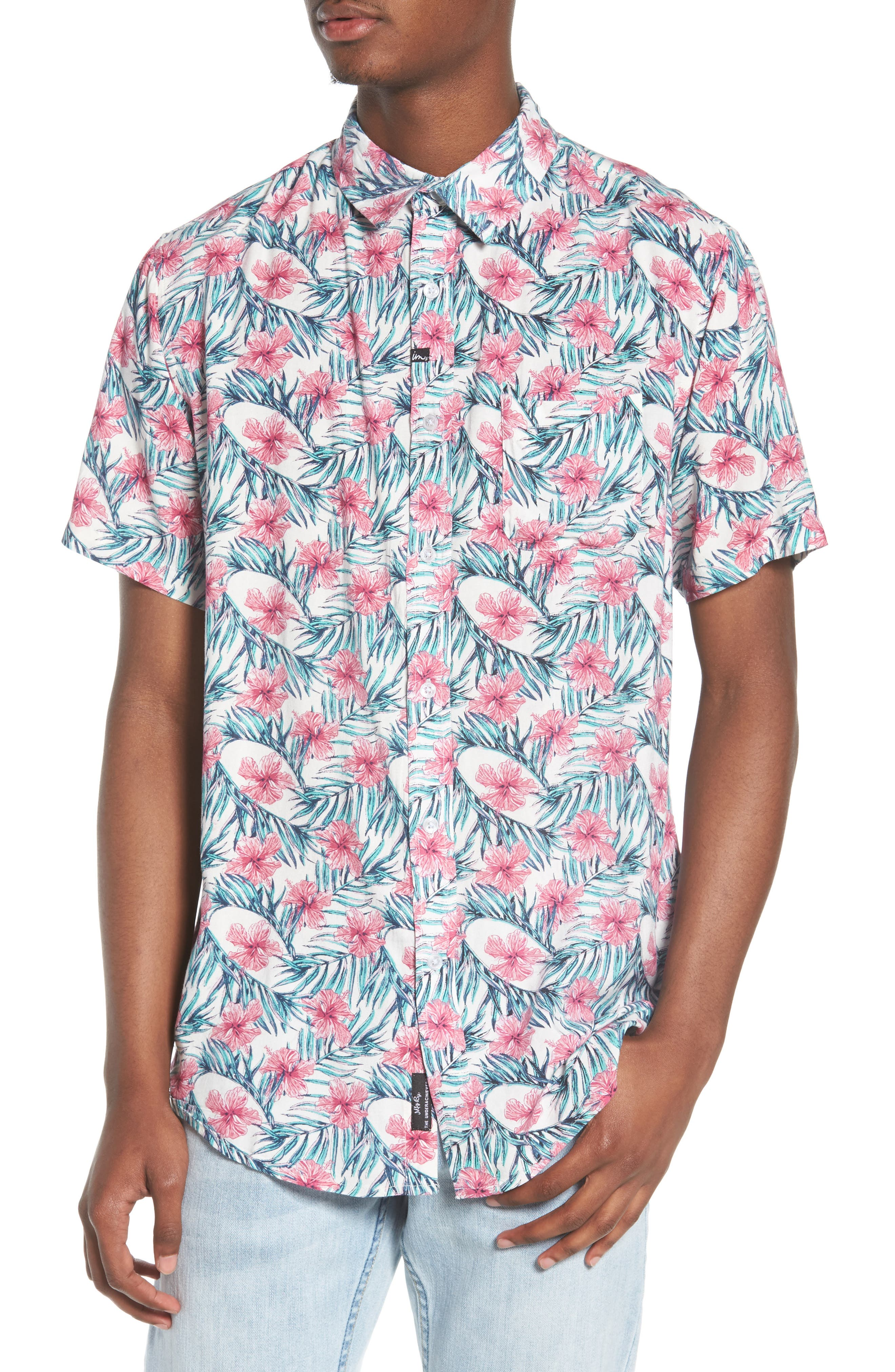 Carolina Woven Shirt,                         Main,                         color, White