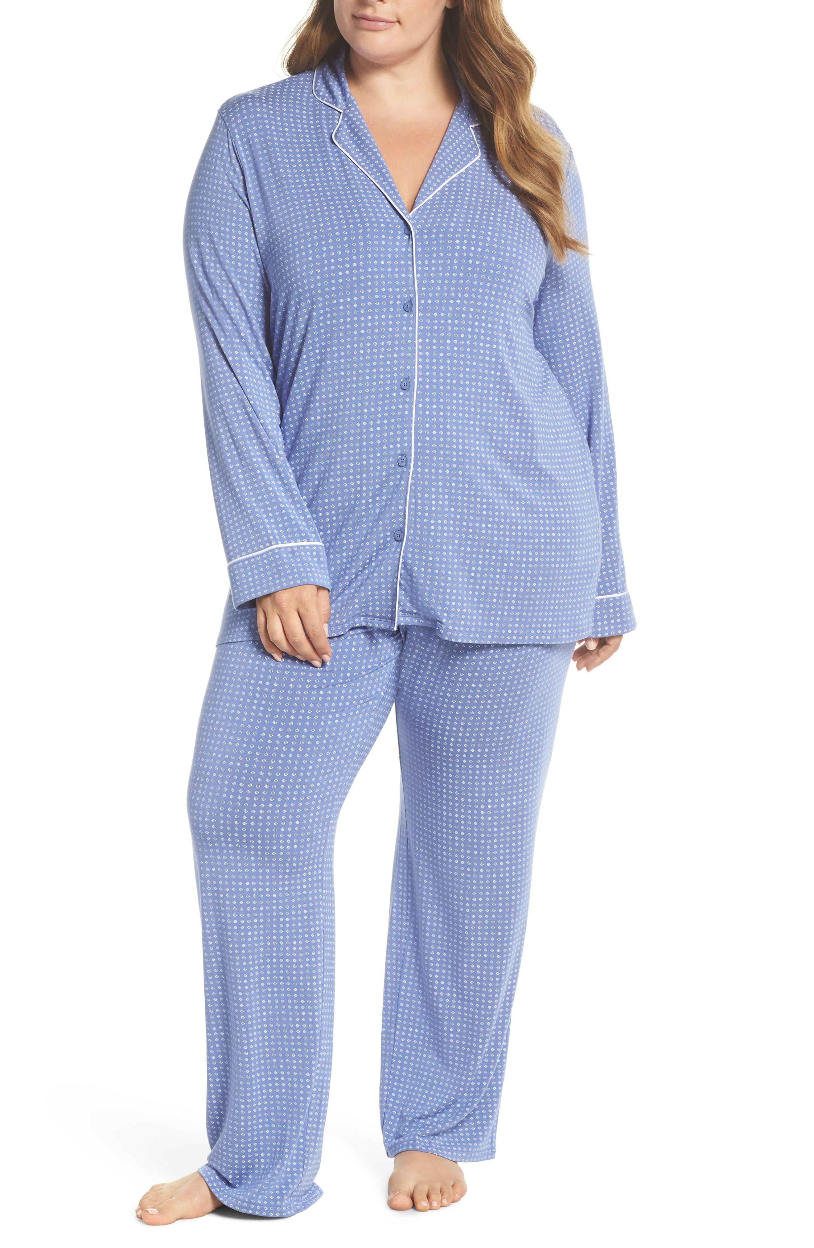 'Moonlight' Pajamas,                             Main thumbnail 1, color,                             Blue Denim Geo