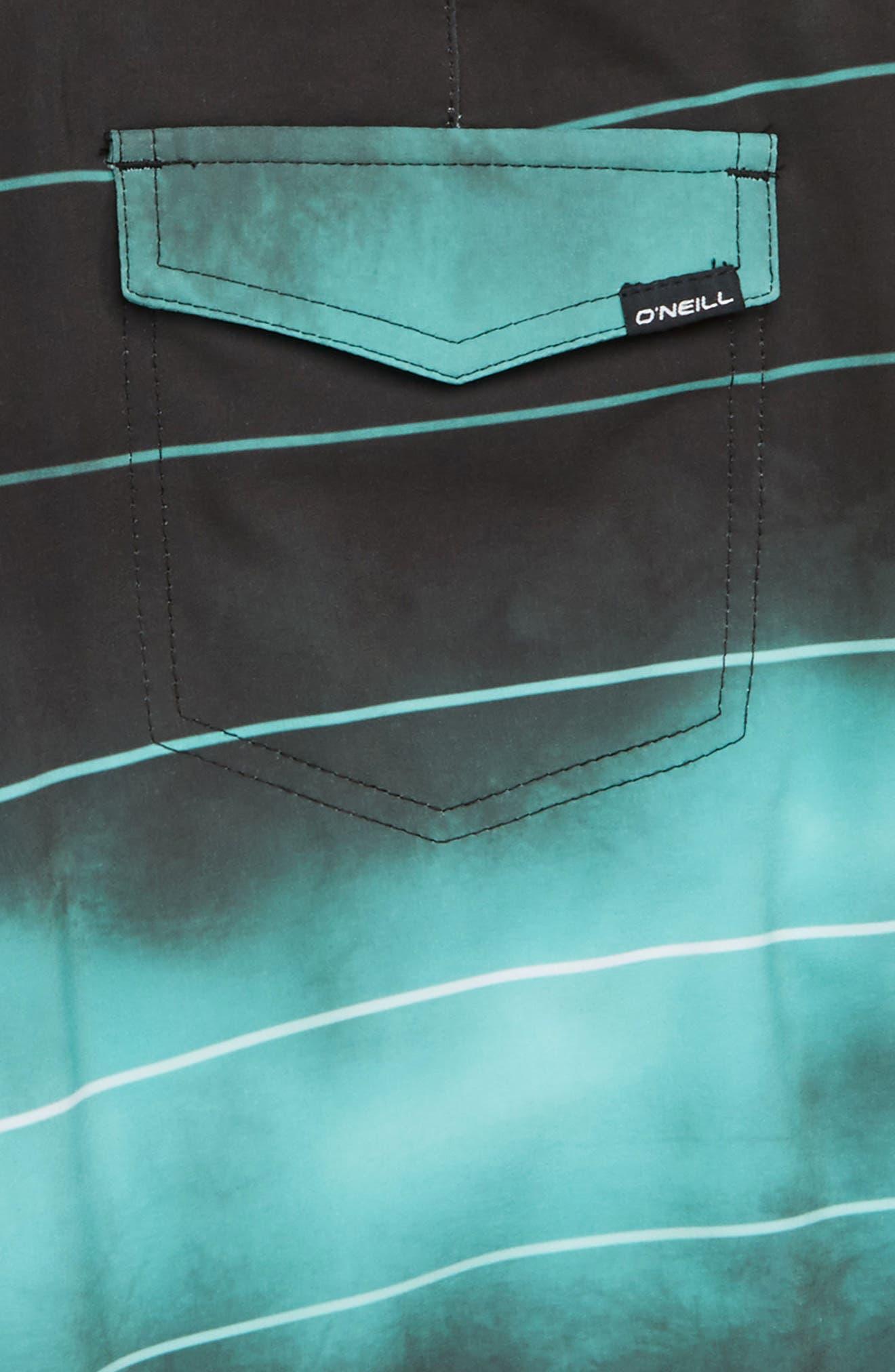 Hyperfreak Smokey Mirrors Board Shorts,                             Alternate thumbnail 3, color,                             Black