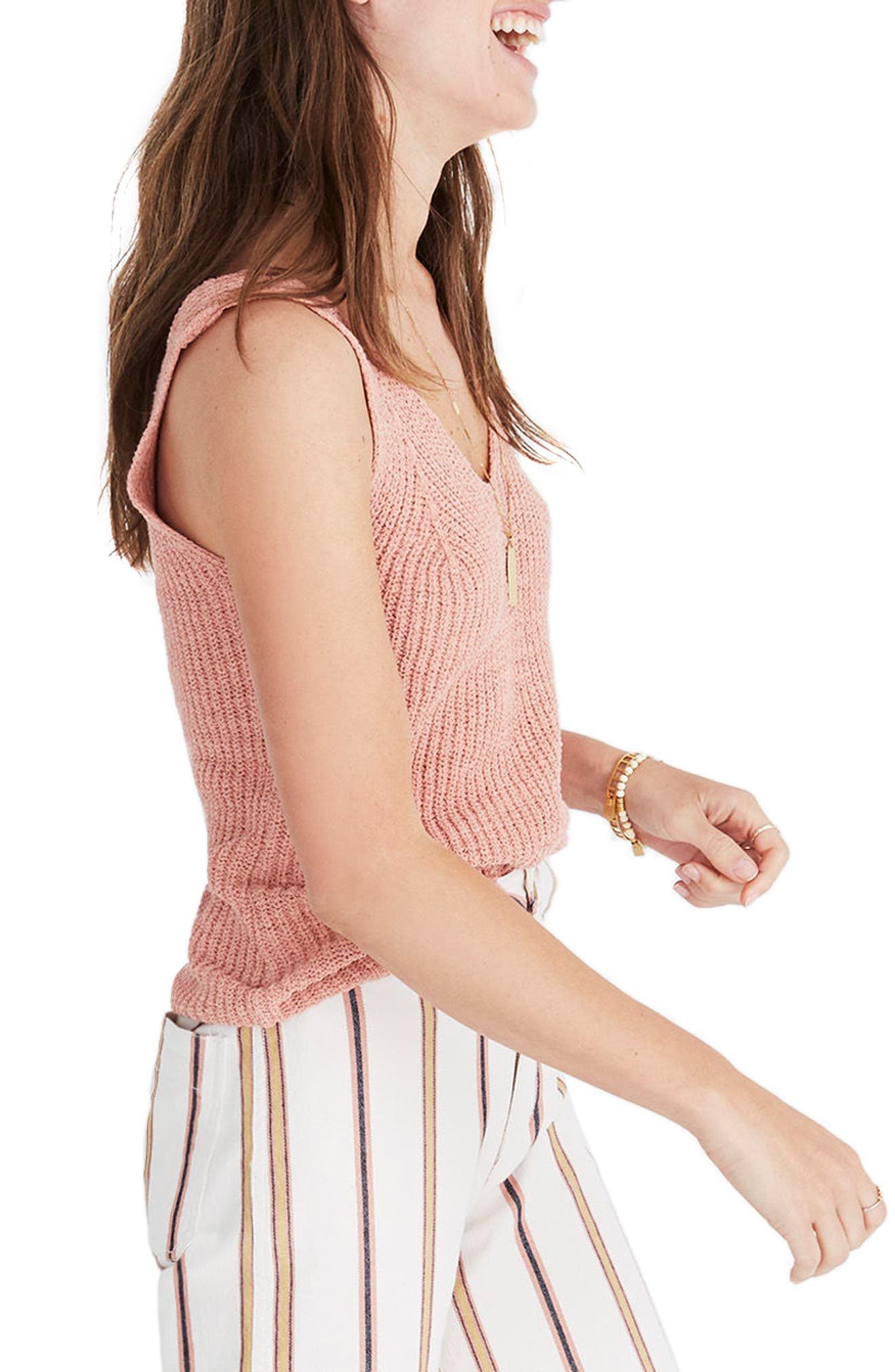 Monterey Sweater Tank,                             Alternate thumbnail 3, color,                             Antique Coral
