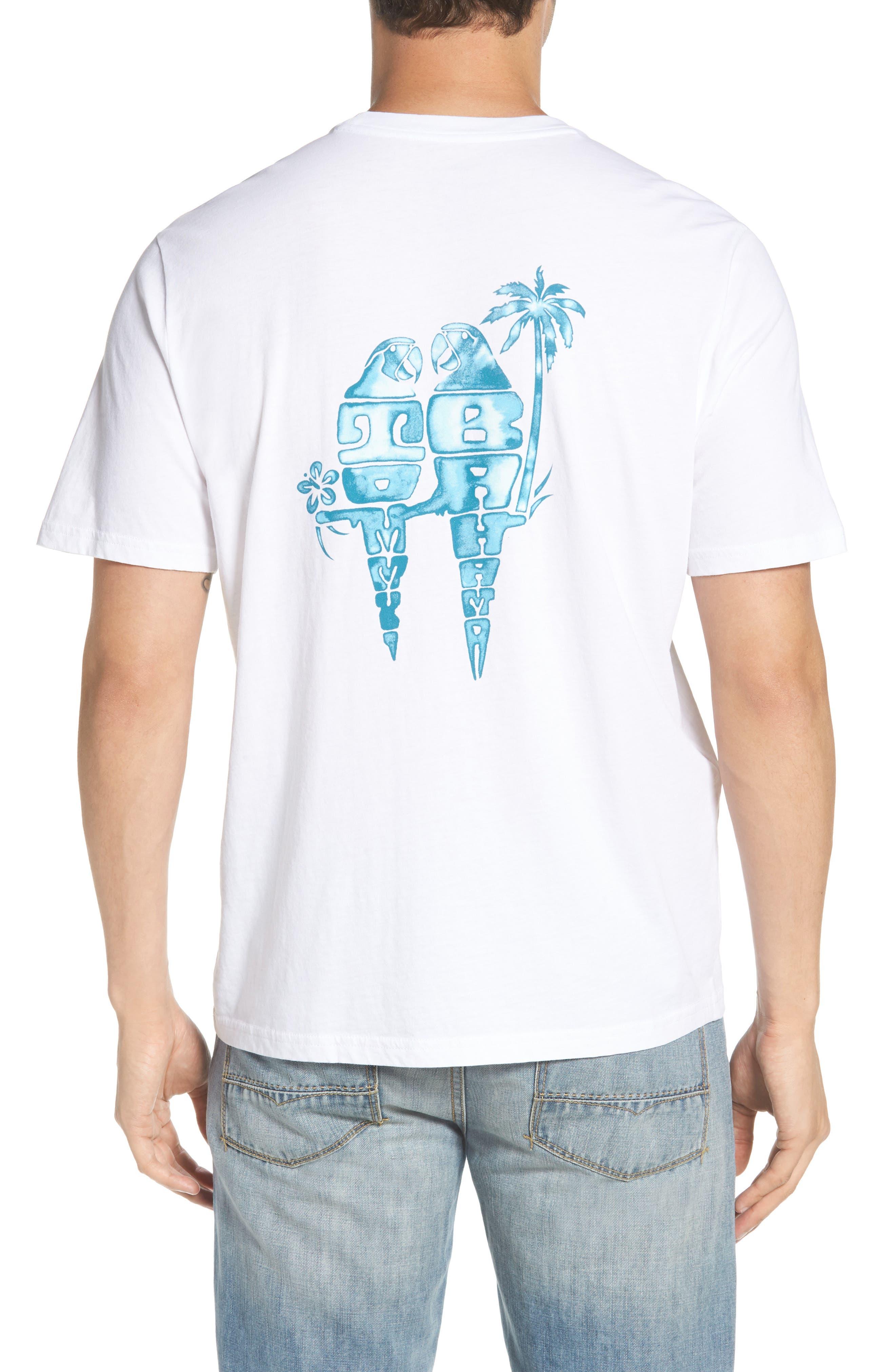 Parrot Pair T-Shirt,                             Alternate thumbnail 2, color,                             White