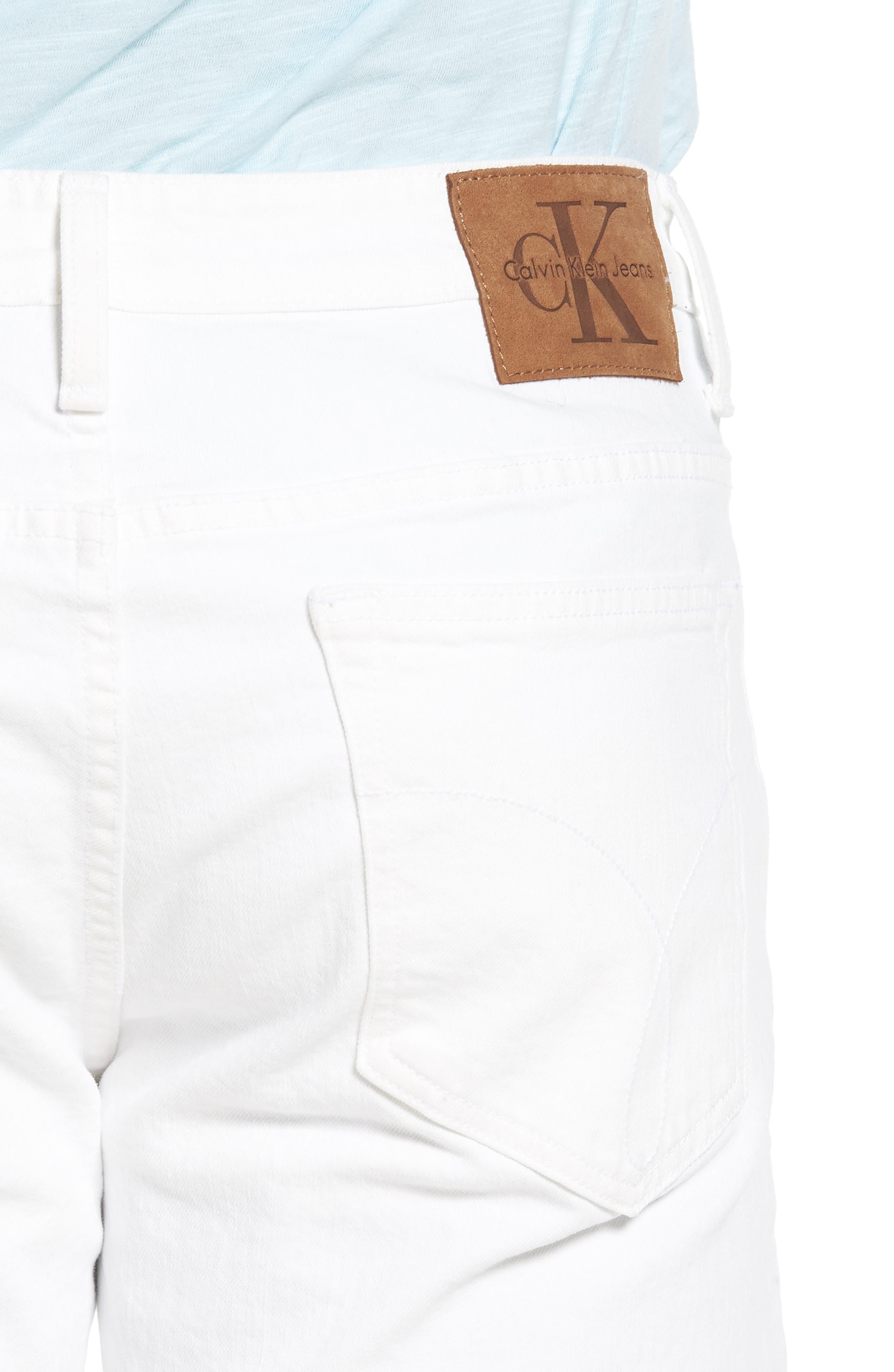 Skinny Jeans,                             Alternate thumbnail 4, color,                             Door White Destruct
