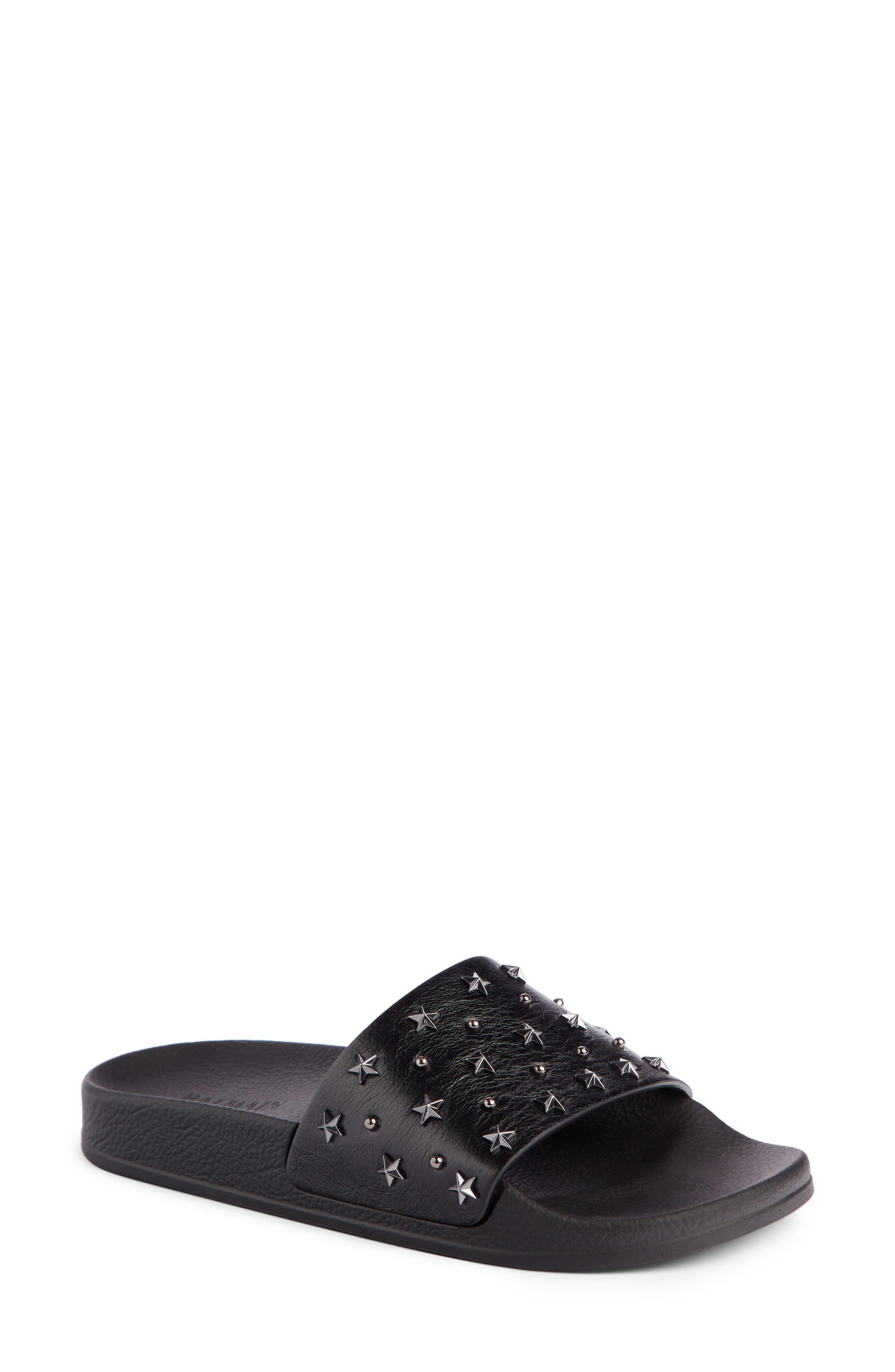 Balmain Calypso Studded Slide Sandal (Women)